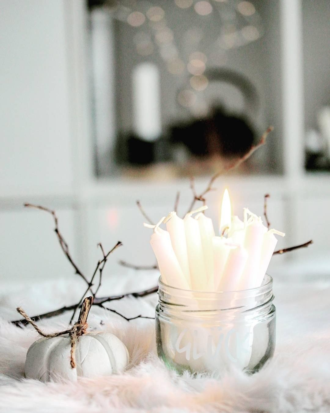 candelligth #cozy #autum #winter #wohnen #white #whiteliving