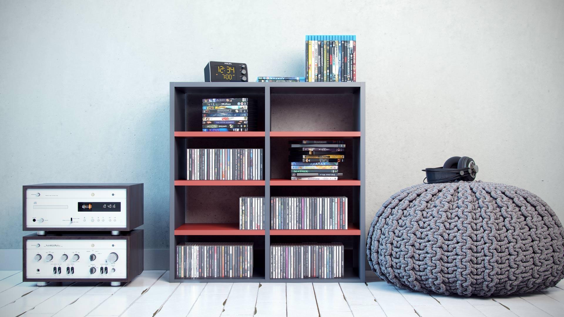 Vanity Bücherregal Ideen Reference Of Cd- & Dvd-regale Für Musik- &