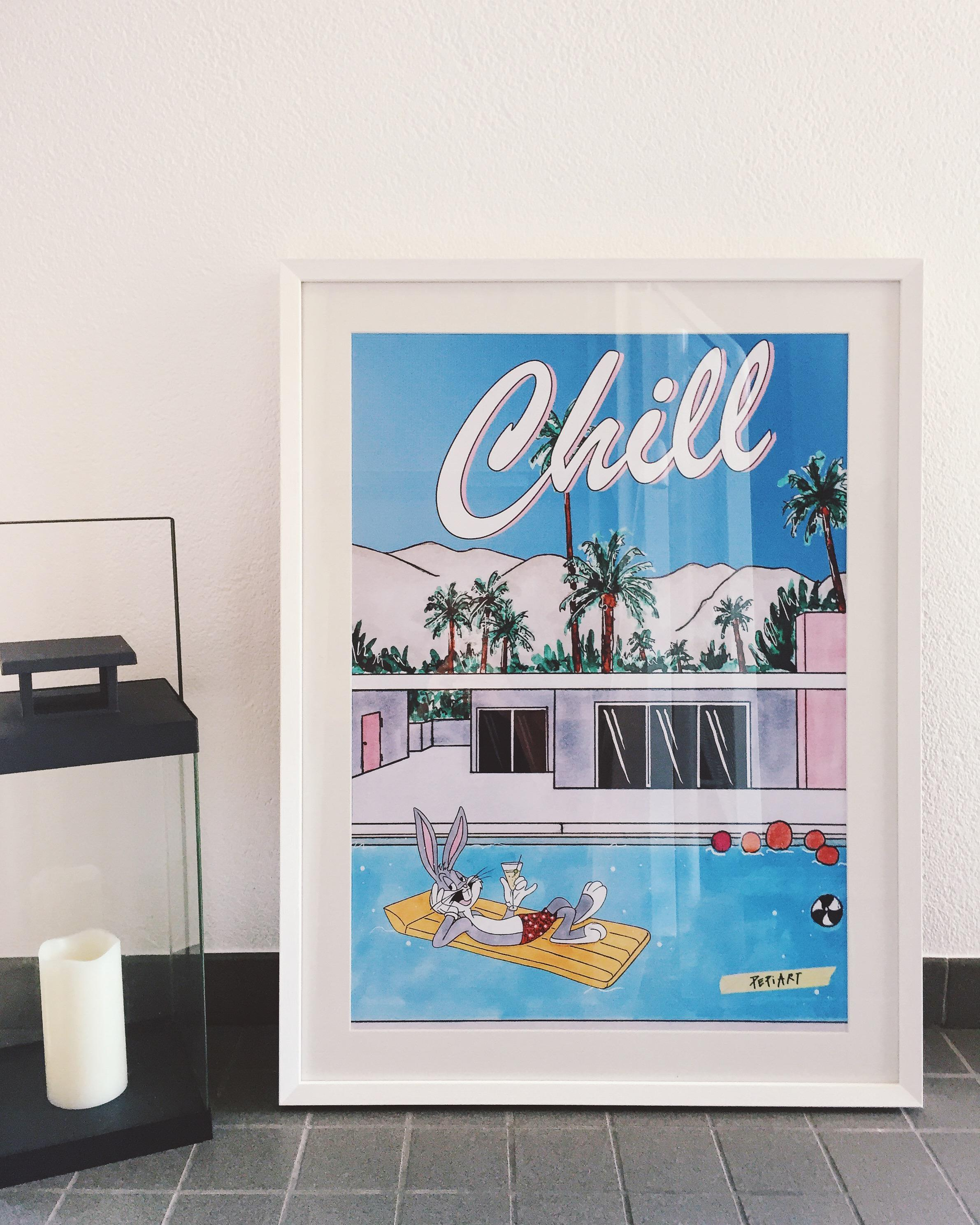 CHILL #mypepiartprint #pool #poster ©PEPIART