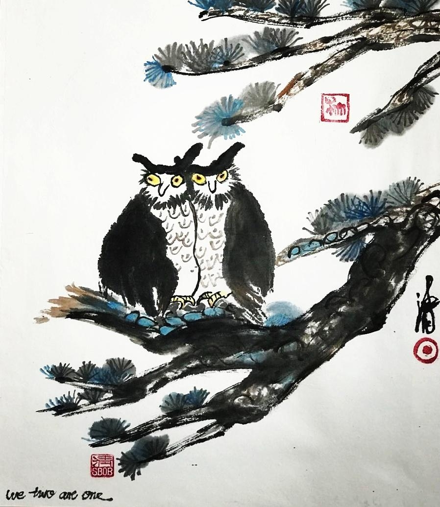 #chinesepainting #zen #ink #love #birds