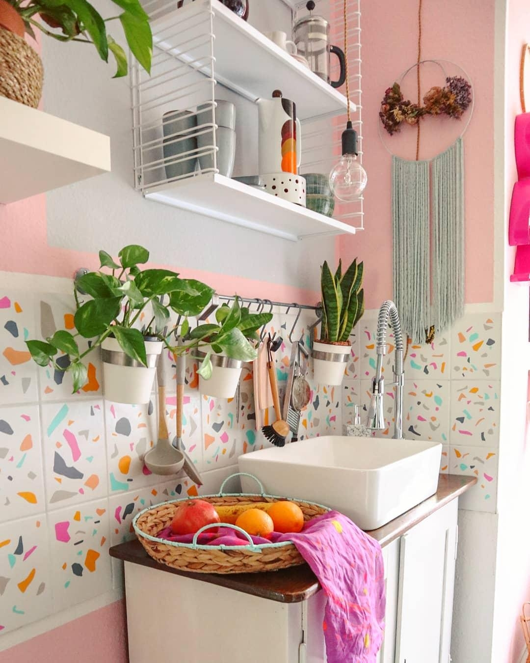#colorful #kitchen #tiles