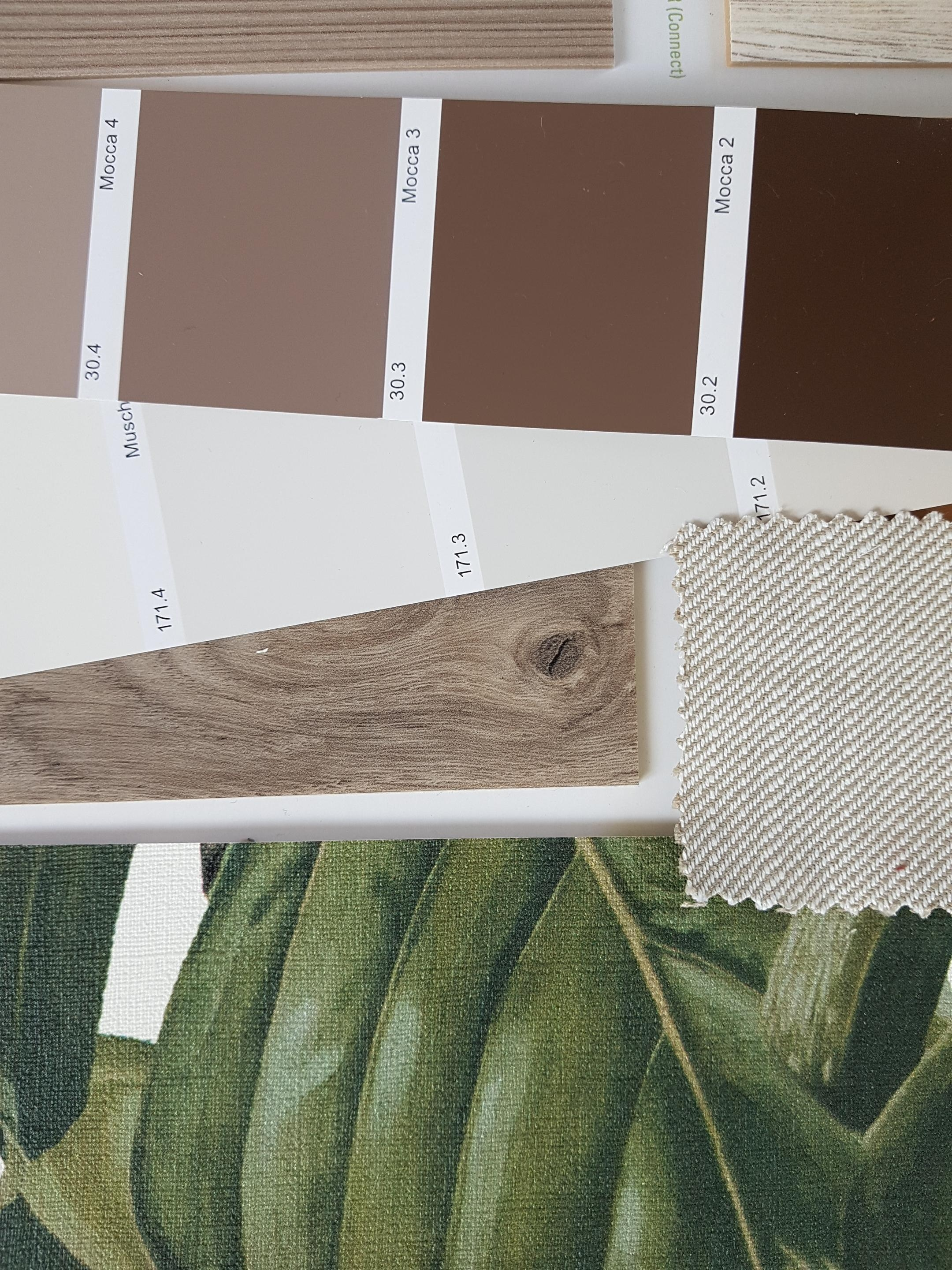 Colour-Moodboard in warmen Farben #moodboard #interiordesign #naturalliving #wohnzimmer #redesign