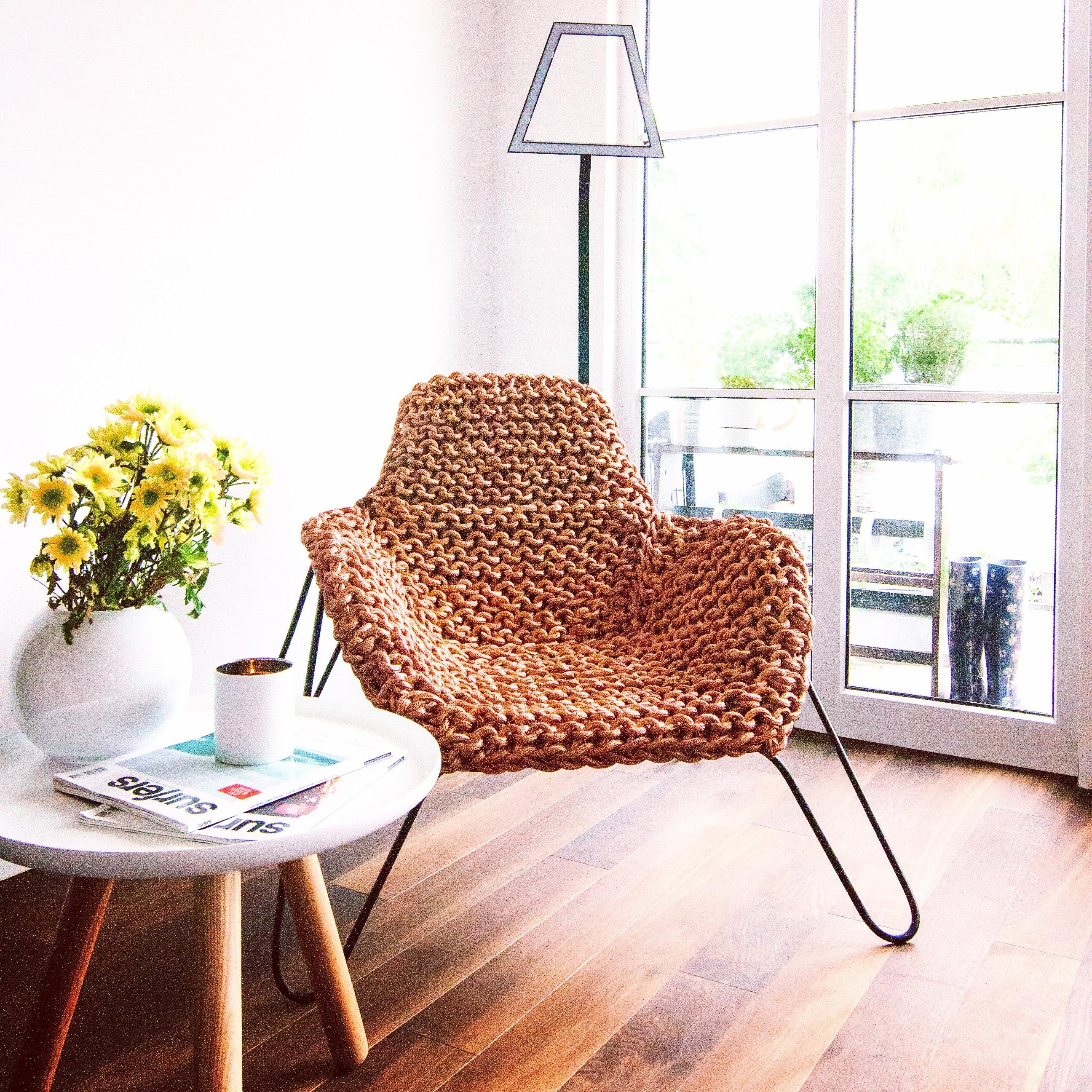 Copper Me Happy - a chair made out of copper Design: Marcella Breugl