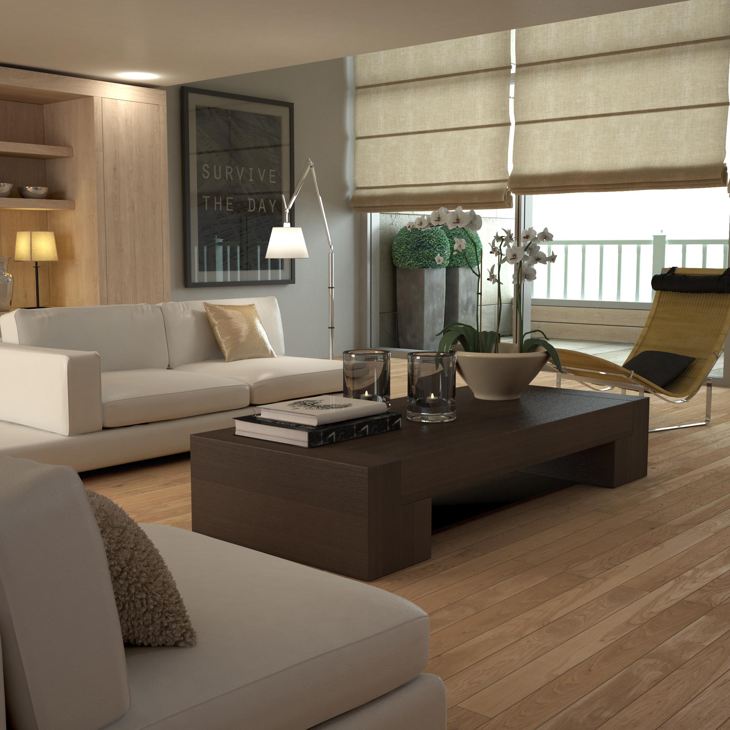 Couch, Tisch #wohnzimmer #sofa #raffrollo #rollo #ti...