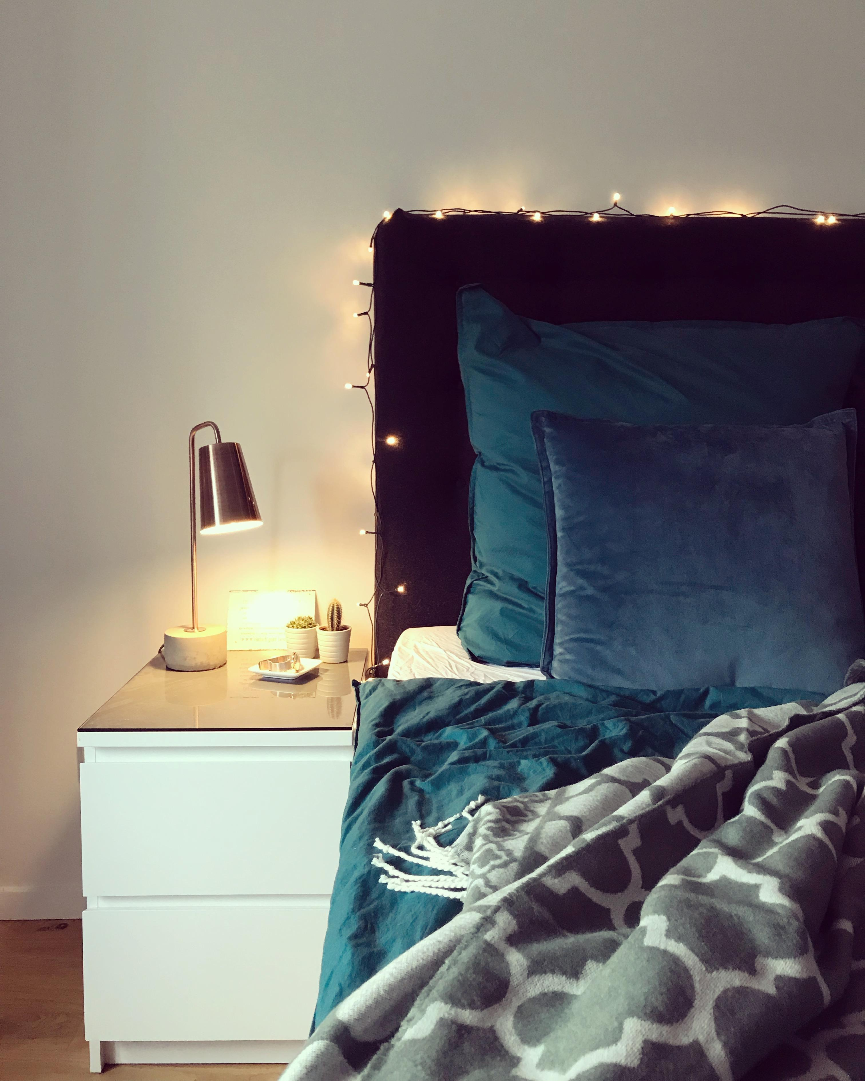 cozy evenings ✨ #light #cozy #bedroom #home #hygge