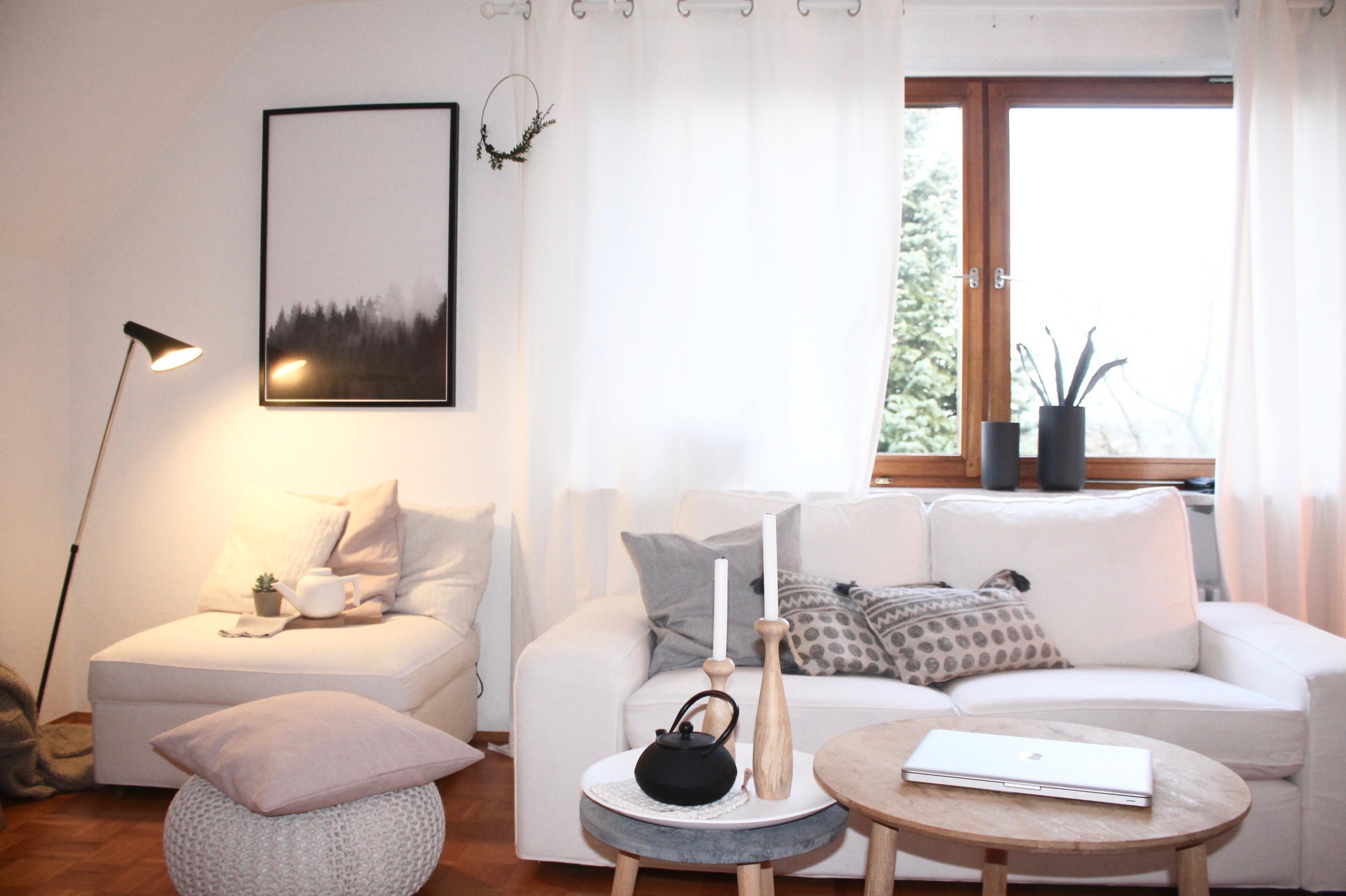 Beistelltisch Wohnzimmer Kissen Kerzenstnder Ikea