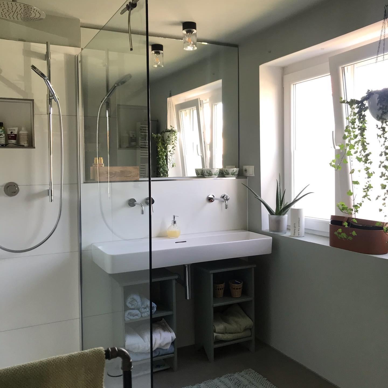 Das neue Bad nach dem Wasserschaden  ich mag's❣️ ......