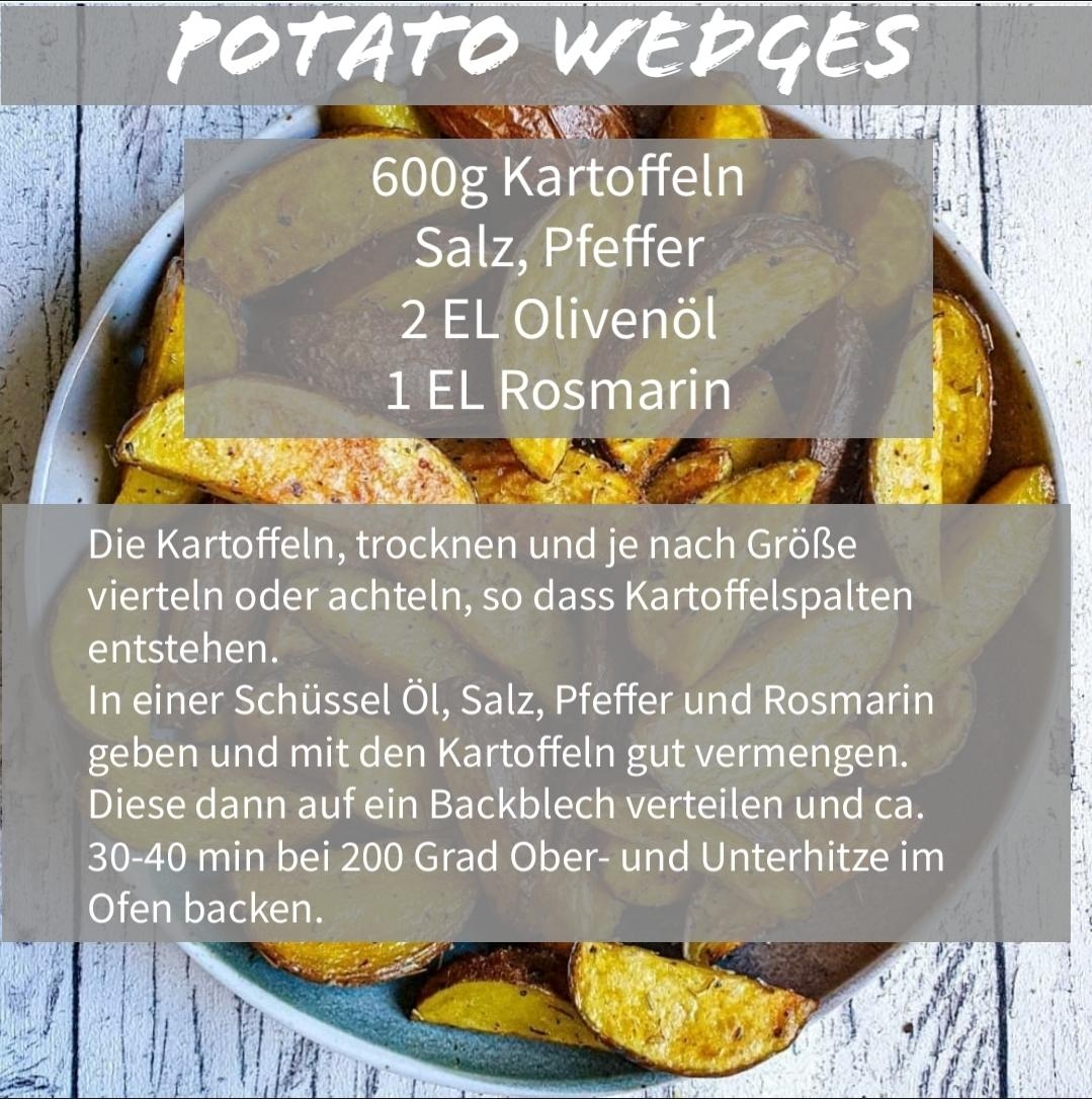 Das Rezept für die Potato Wedges! #partyfood #fingerfood #potatowedges
