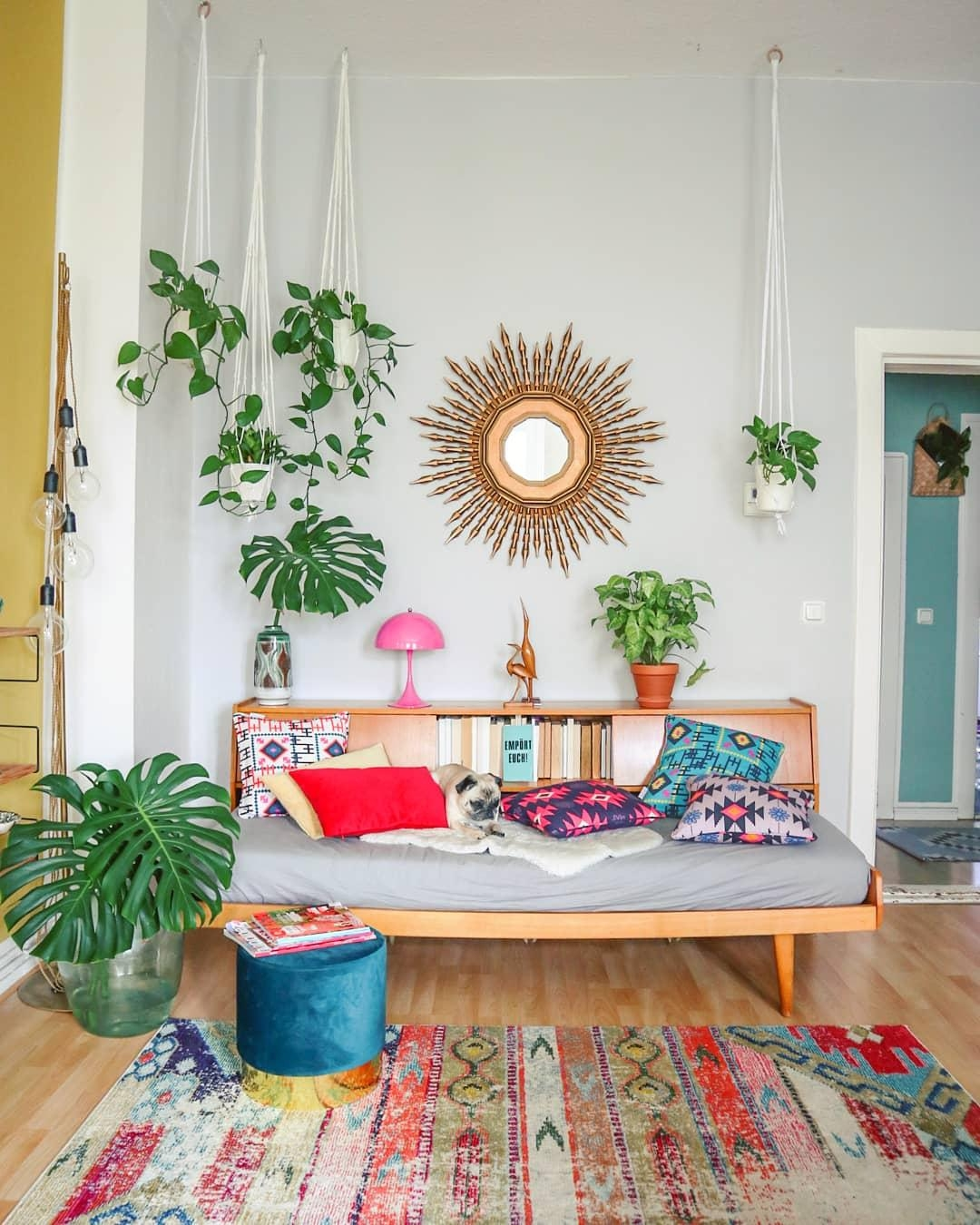 #daybed #colorful #plant #boho #vintage