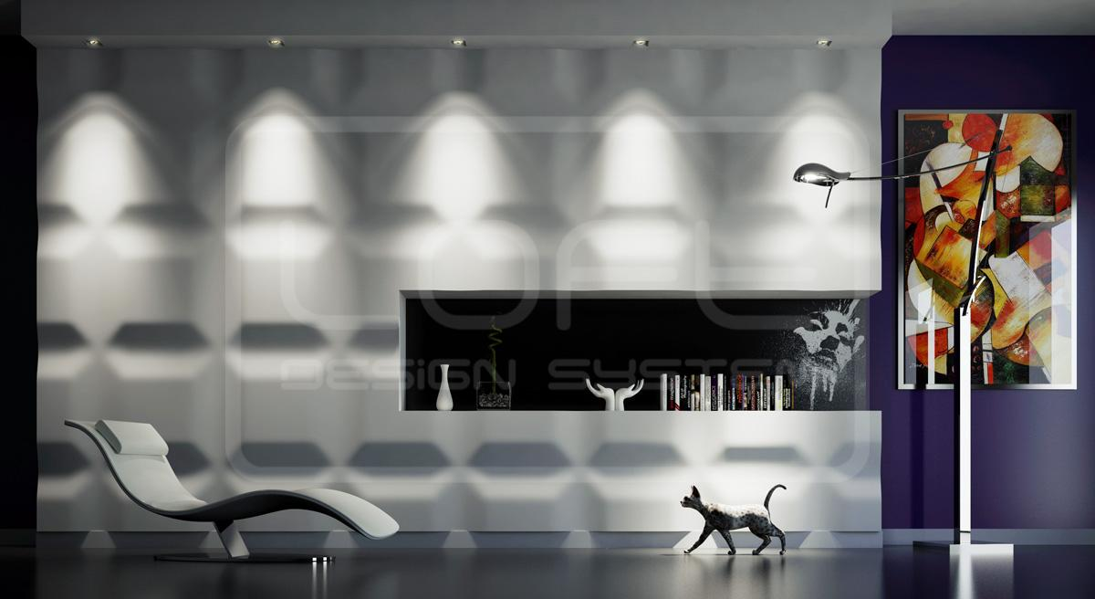 dekorative wandpaneele aus gips in 3d optik wandver. Black Bedroom Furniture Sets. Home Design Ideas