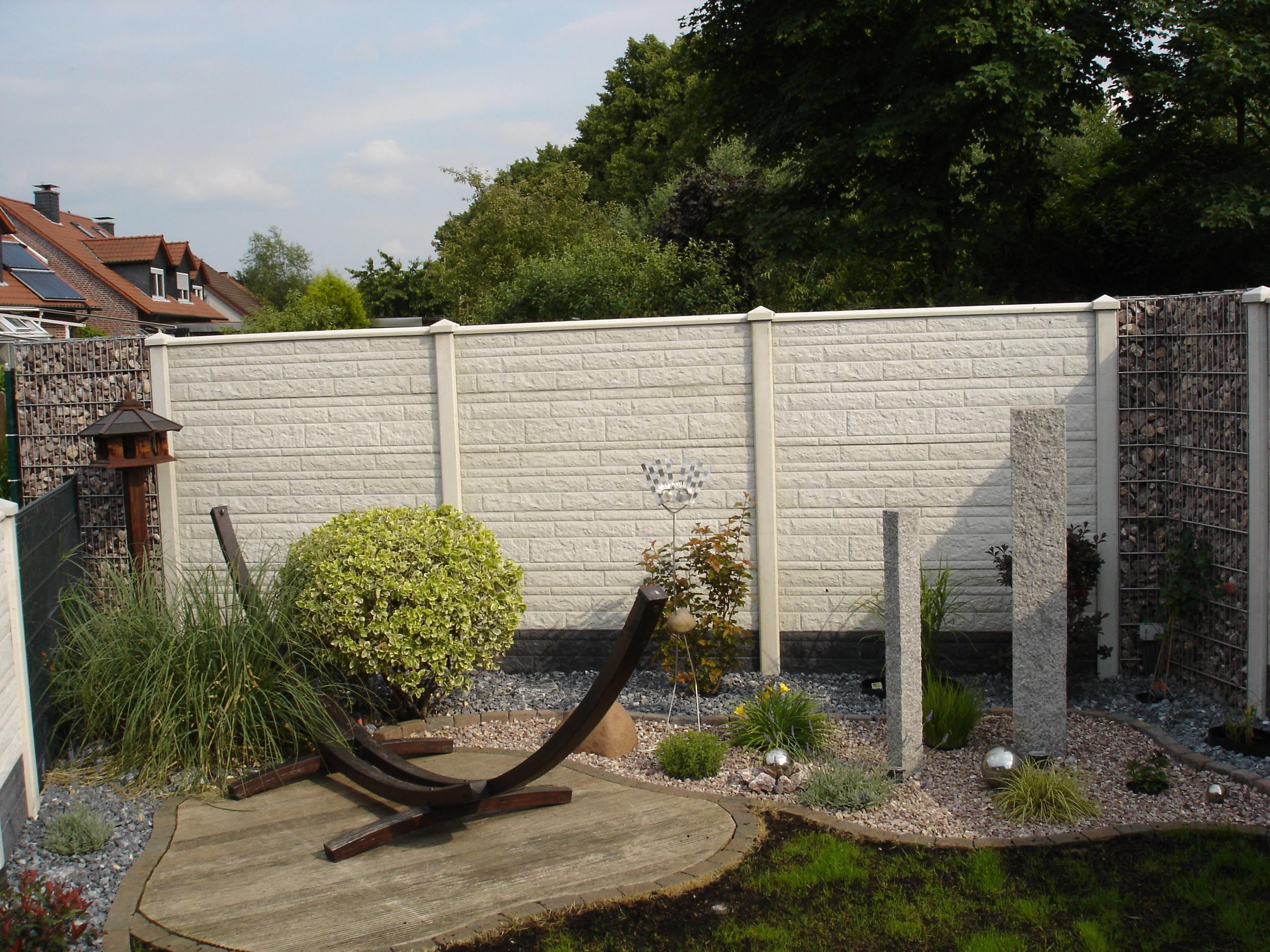 Deluxe Betonzaun Mit Gabionen Gartenzaun Sichtschu