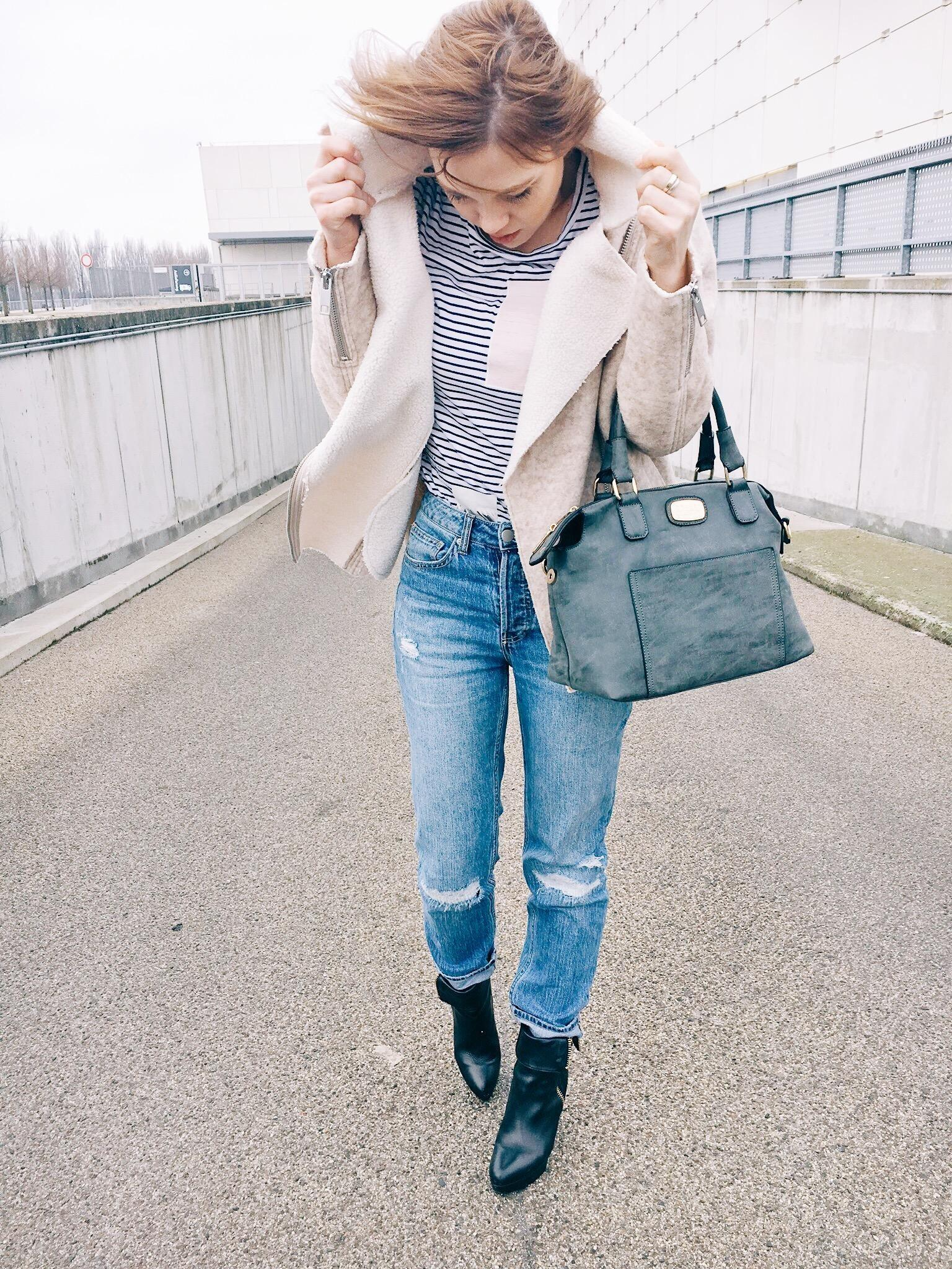 Denim Look #jeans #look #denimlook #ootd #teddycoat
