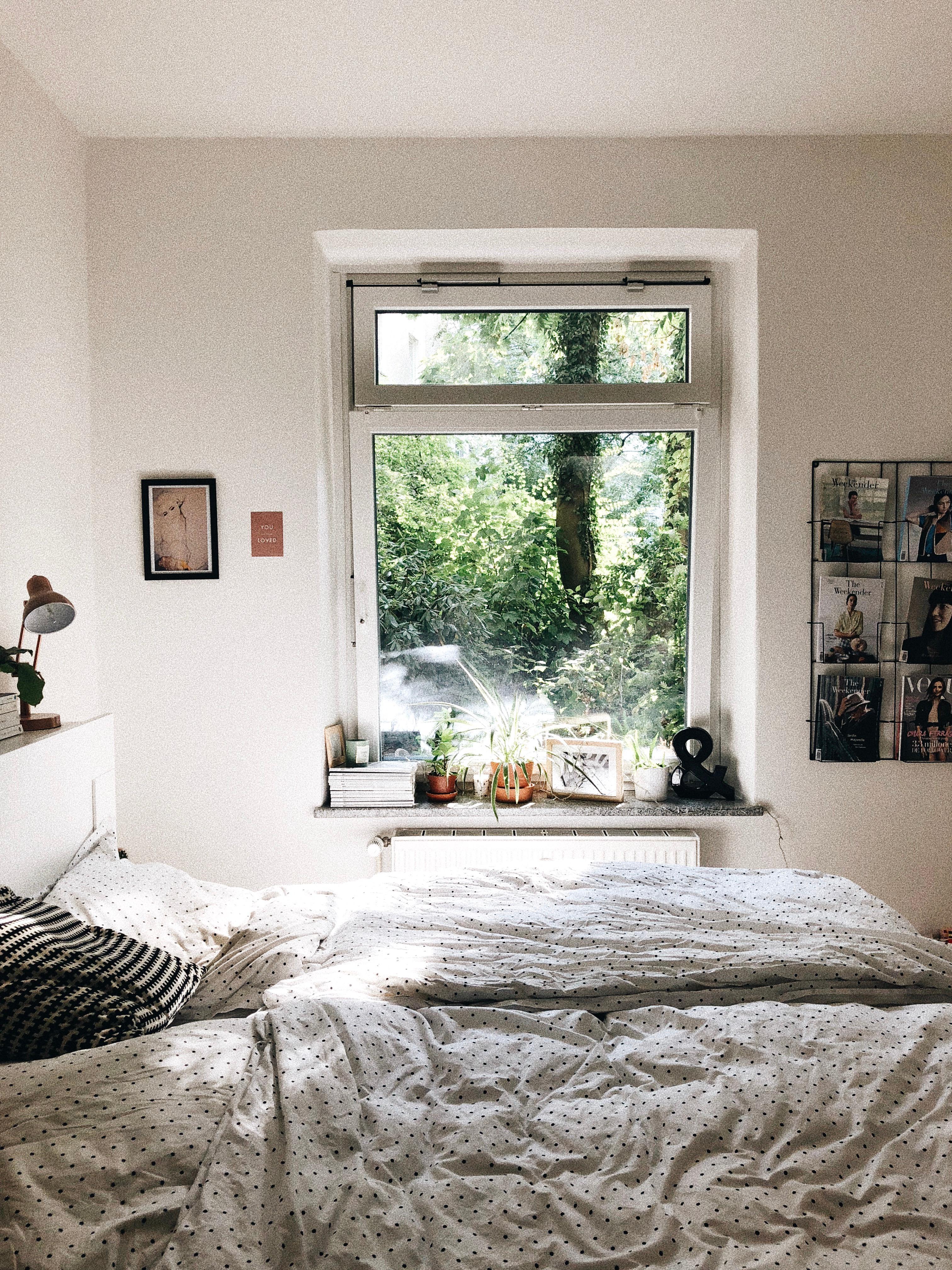 Der Blick Ins Grüne. #schlafzimmer #urbanjungle #bedroom #garten  #erdgeschoss #