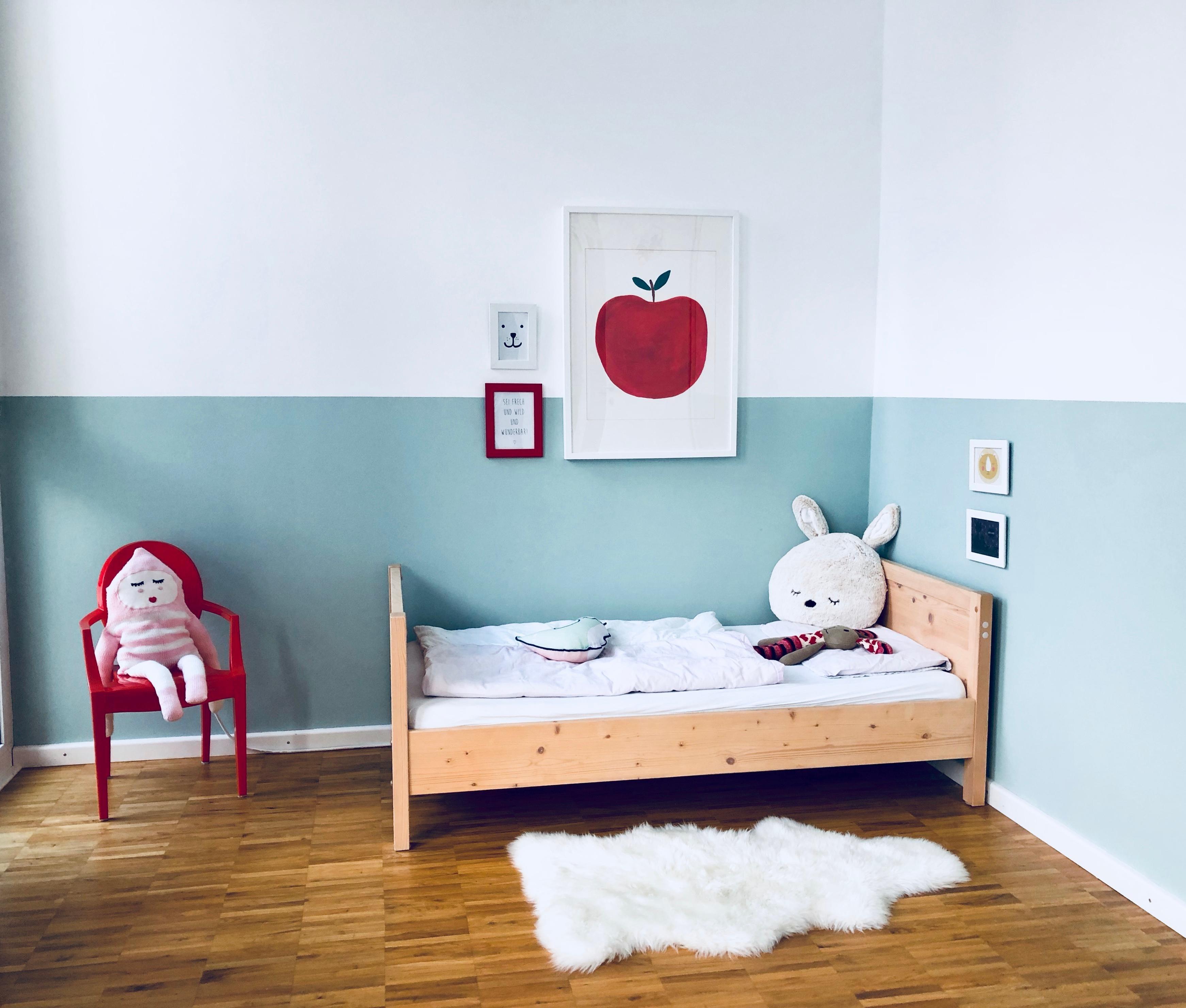 #Kinderzimmer #Mädchenzimmer #Wandfarbe #mintgrün #Wandgestaltung