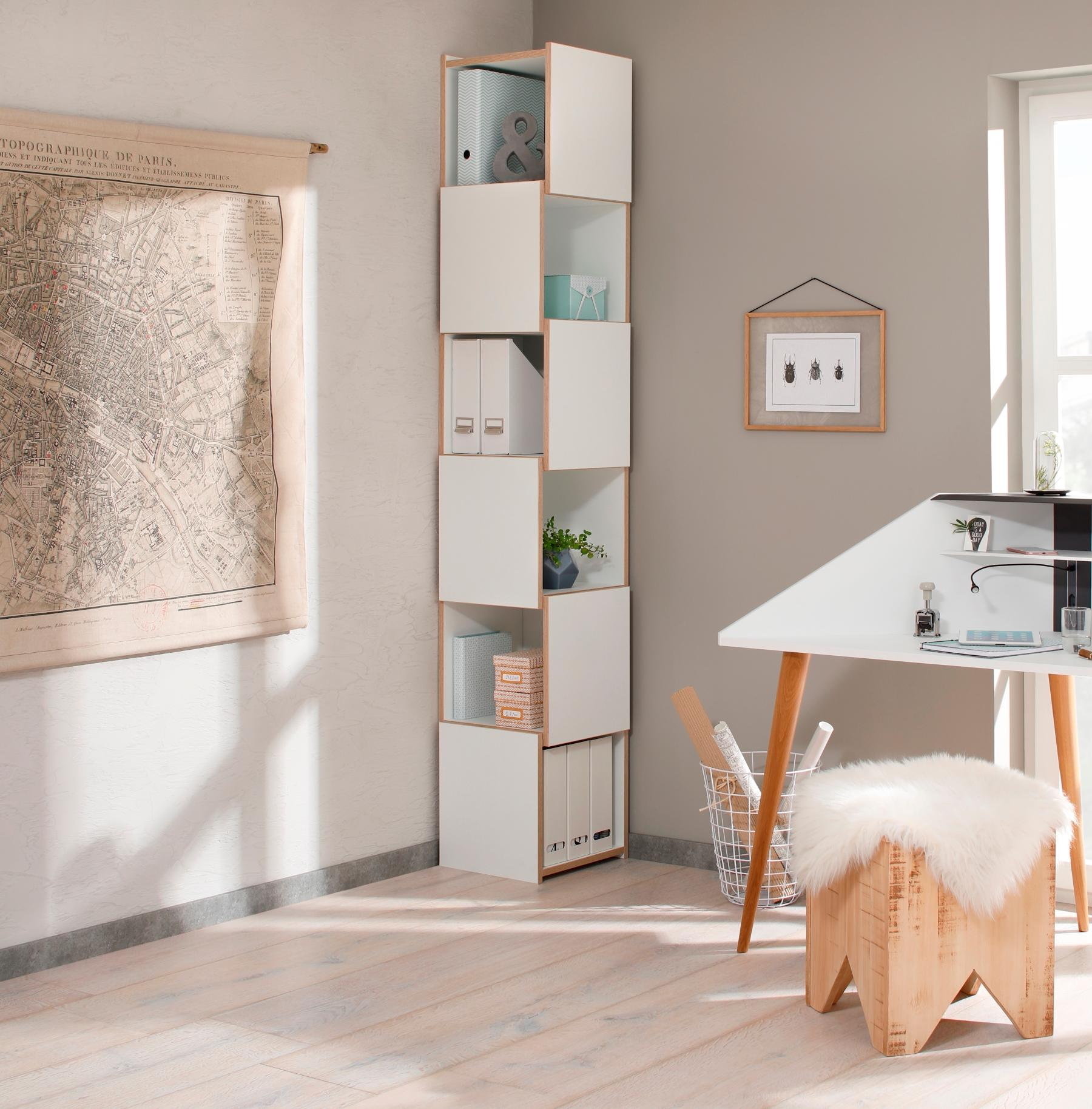 Design-Eckregal im Homeoffice #eckregal #eckmöbel ©Fotostudio Weismain