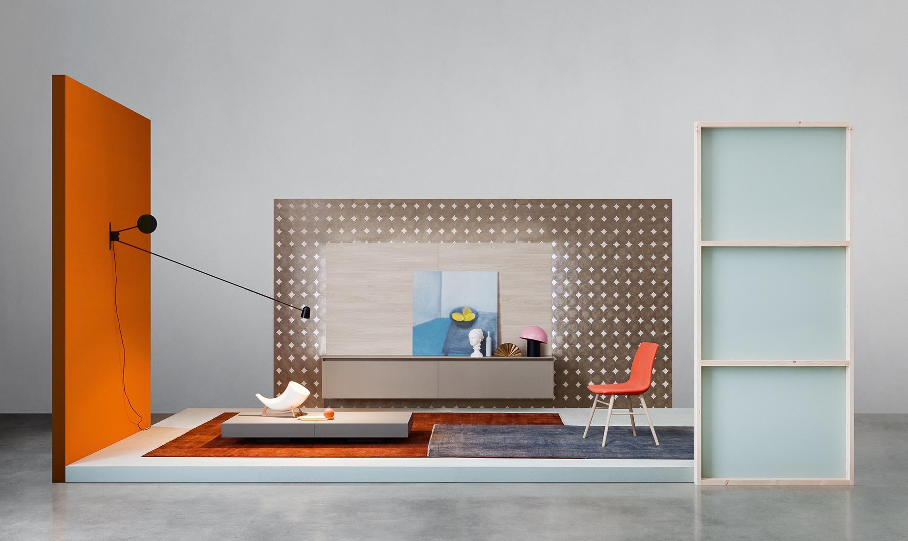 design wohnwand novamobili #wohnzimmer #wandschrank  • couchstyle, Wohnzimmer