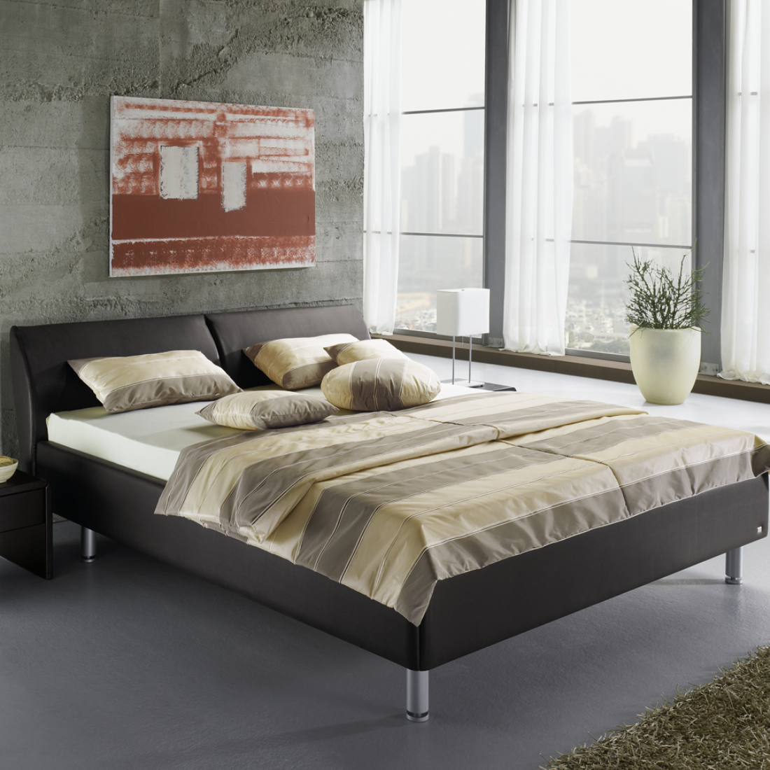 ein bett selber bauen bilder ideen couchstyle. Black Bedroom Furniture Sets. Home Design Ideas