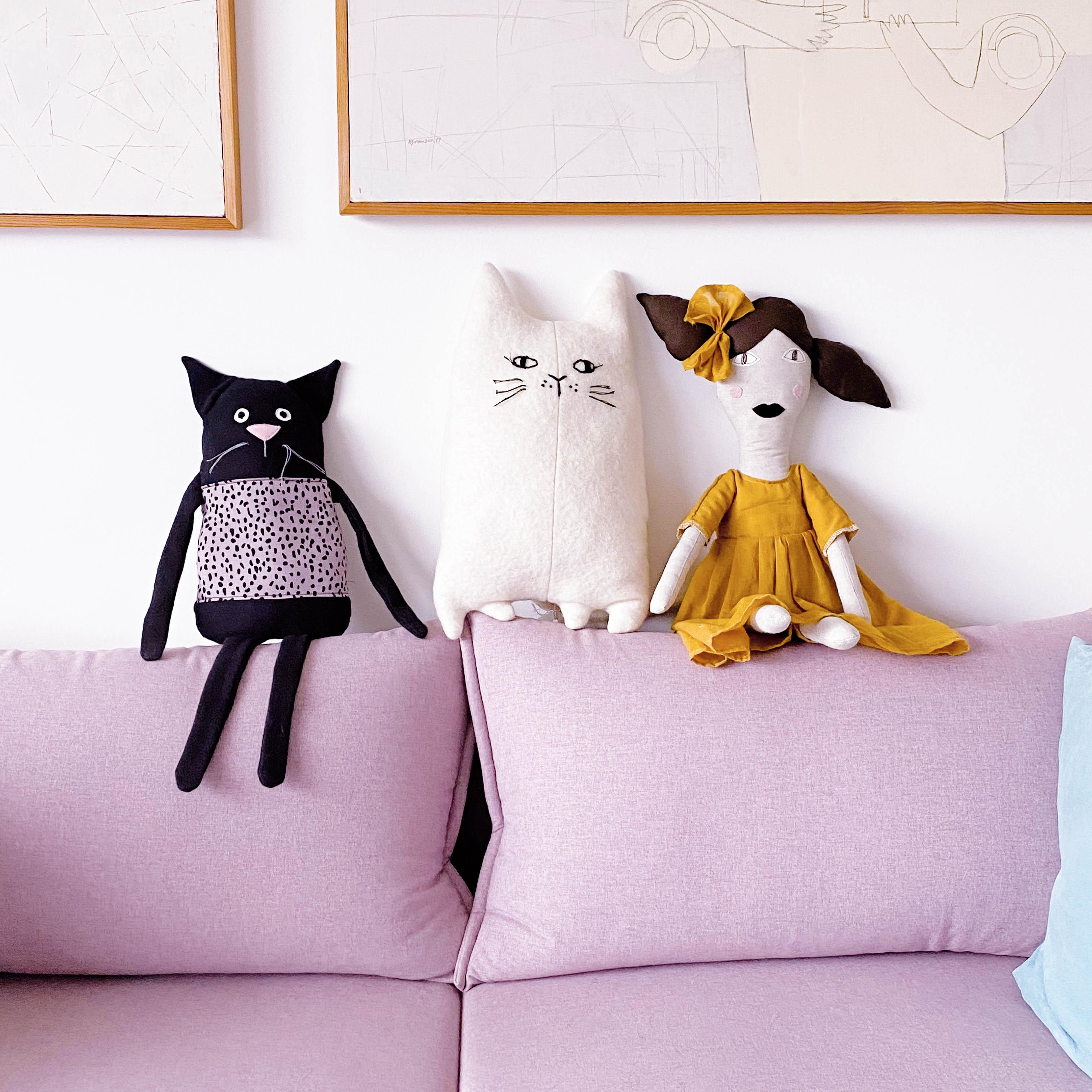 Designer dolls for interior and decoration.