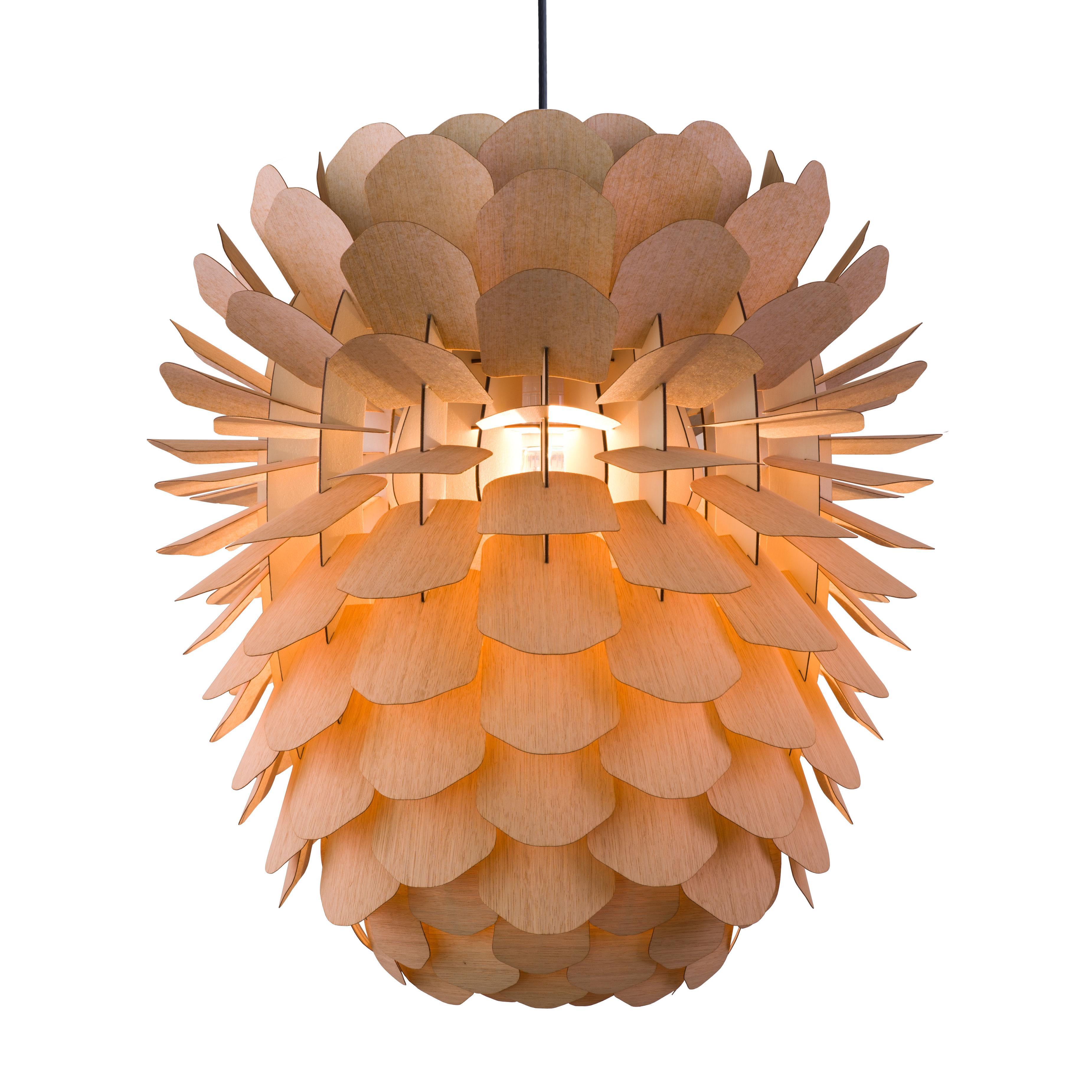 designer pendelleuchte zappy aus eichenholzfurnier v • couchstyle, Wohnzimmer