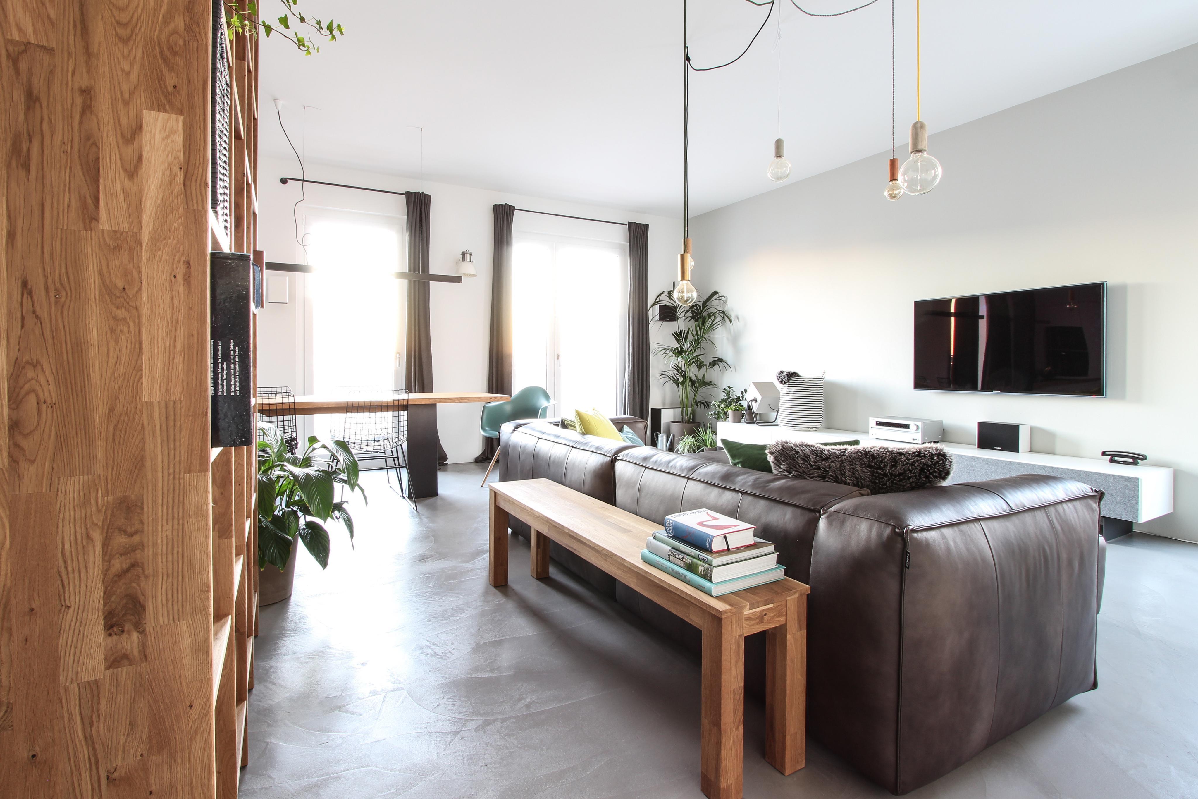 Regal hinter sofa dekoration ideen