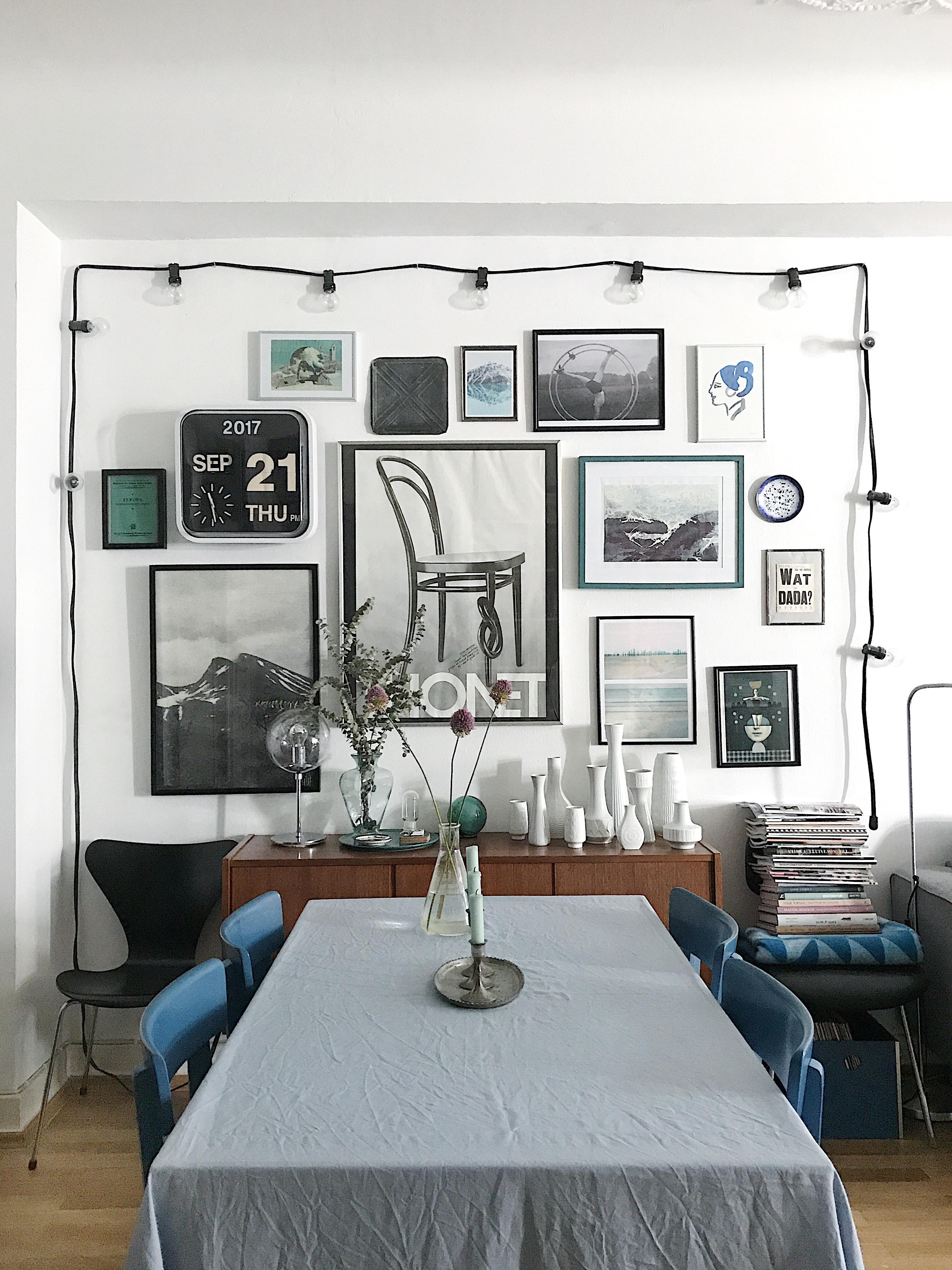 Die Bilder Wand Im Wohnzimmer #gallerywall #wohnzimmer