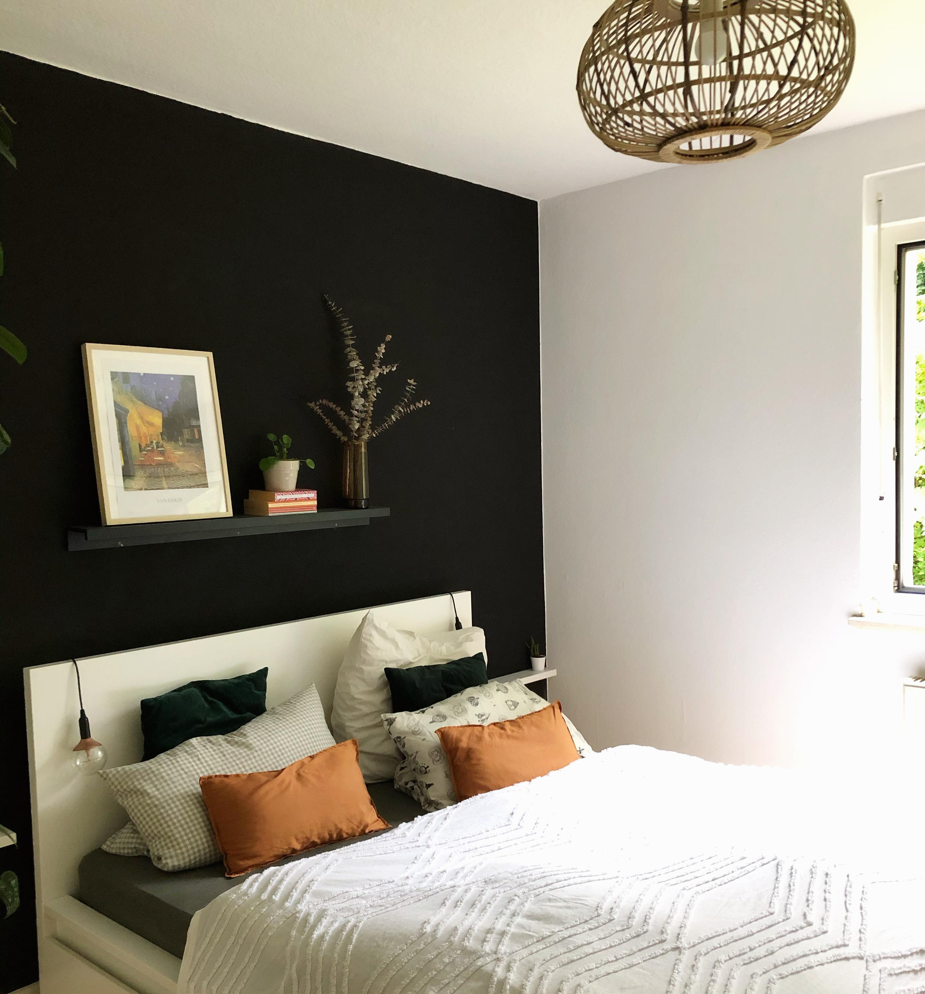 Schlafzimmer Deko Ideen Schwarz