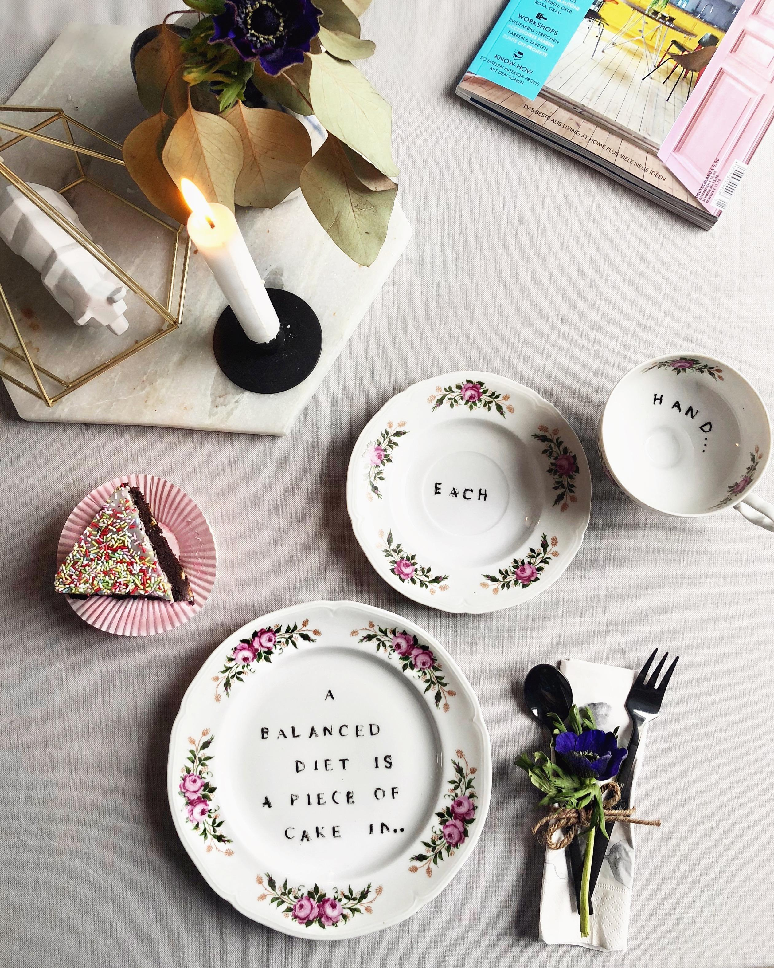 #diy #diylover #plates #vintageplates #quotes #coffee #coffeetime