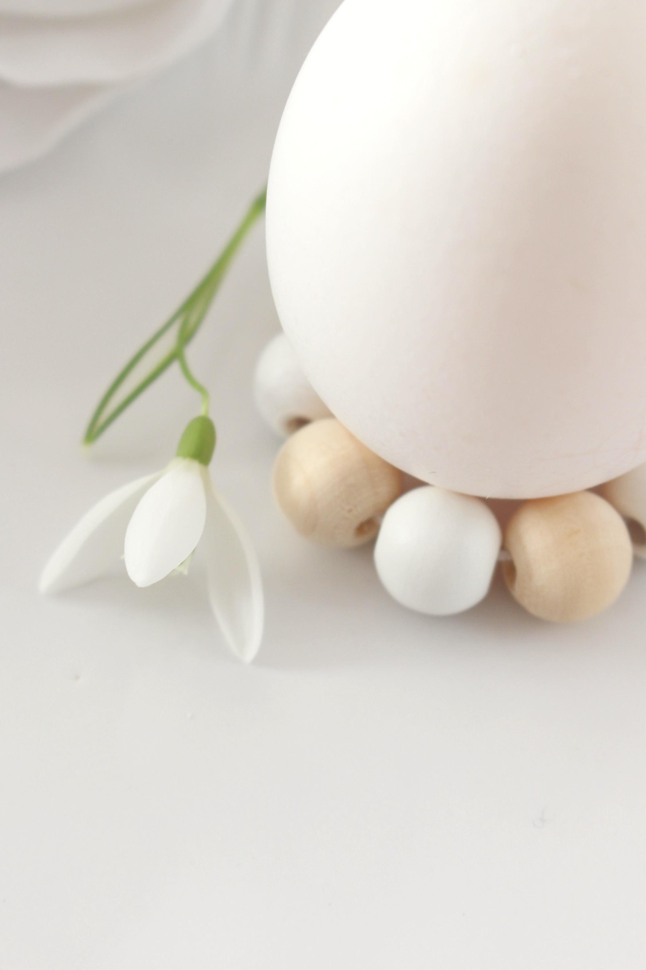 Diy Eierhalter Aus Holzperlen Einfach Schnell O