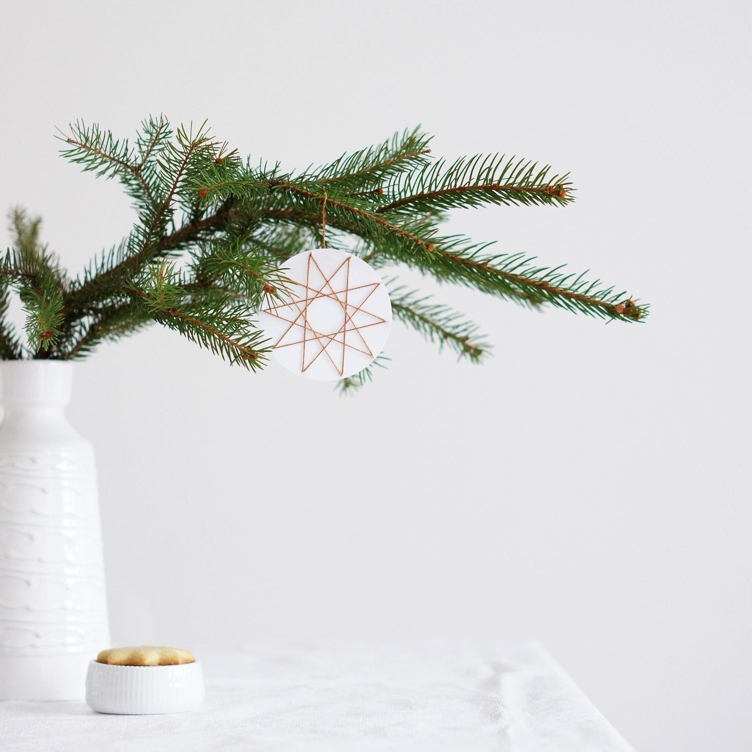 DIY Fadenstern #advent #weihnachten #diy #styling #kupfergarn