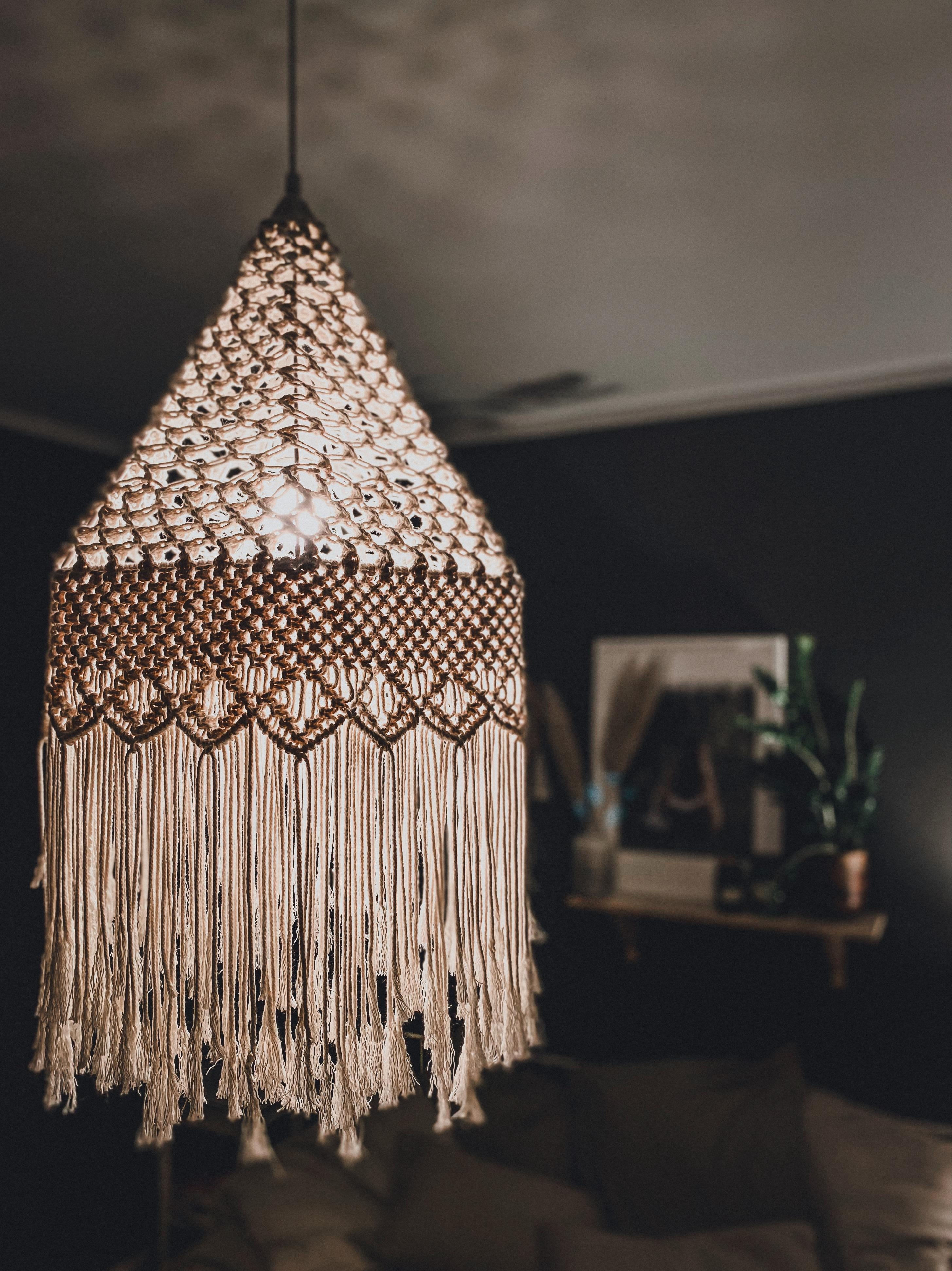 DIY Makrameelampe #light #makramee #diy