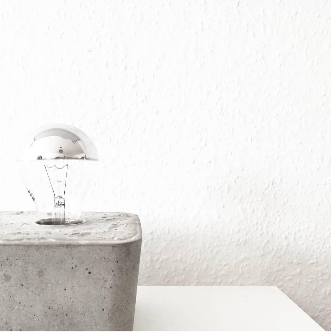 Do it yourself #concrete #concretedesign #concretedecor #diy #lamp #wgzimmer