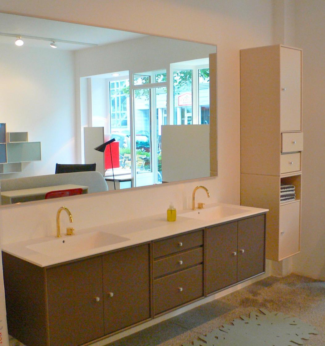 Doppelwaschtisch Bad Regal Badezimmerspiegel Spi