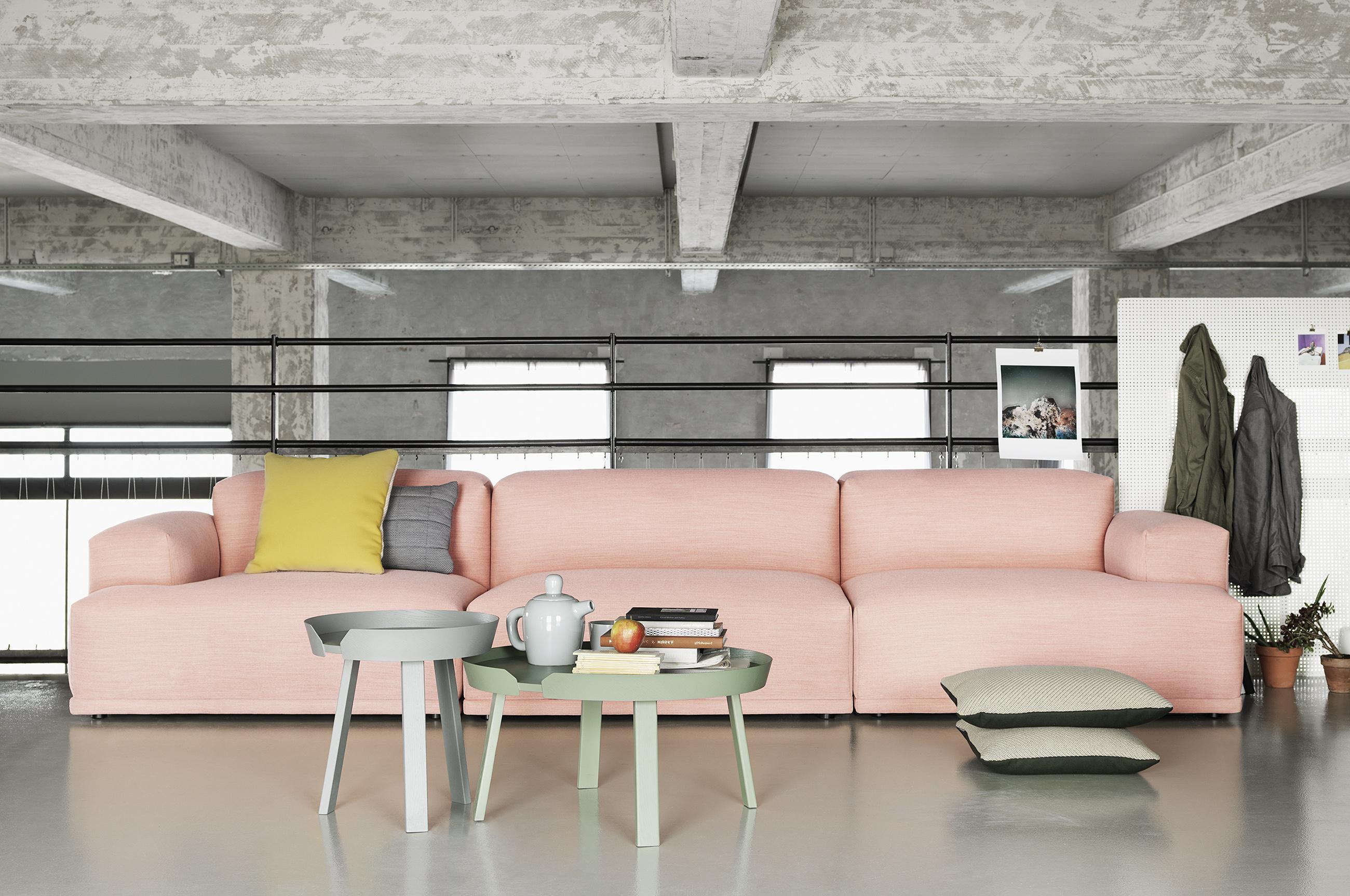 Beautiful Dreisitzer In Rosa Couchtisch Kissen Sofa Tisch Galerie With Sofa  Mit Tisch