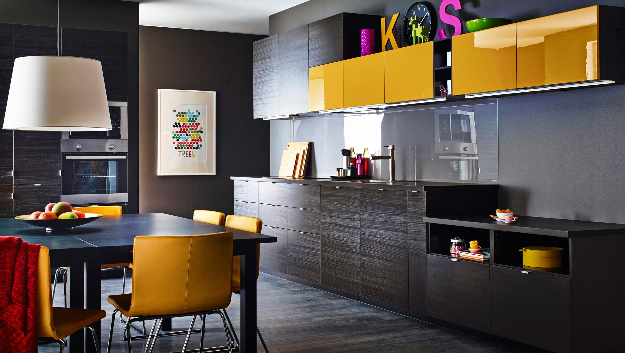 dunkle k che bilder ideen couch. Black Bedroom Furniture Sets. Home Design Ideas