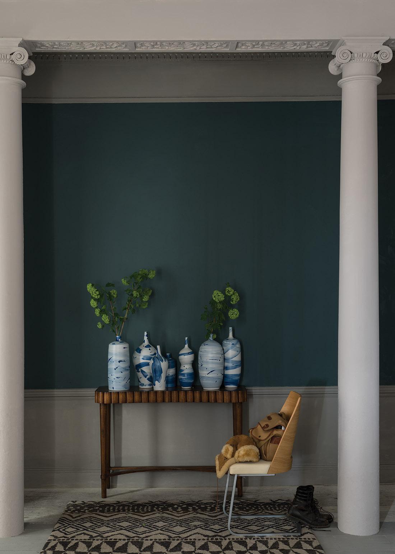 Dunkle Wandgestaltung #wandfarbe #farrowu0026amp;ball ©Farrow ...