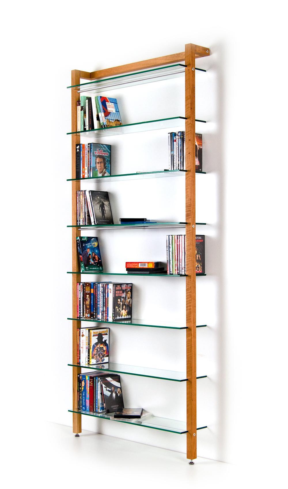 dvd und b cher regal aus massivholz kirschbaum mi. Black Bedroom Furniture Sets. Home Design Ideas