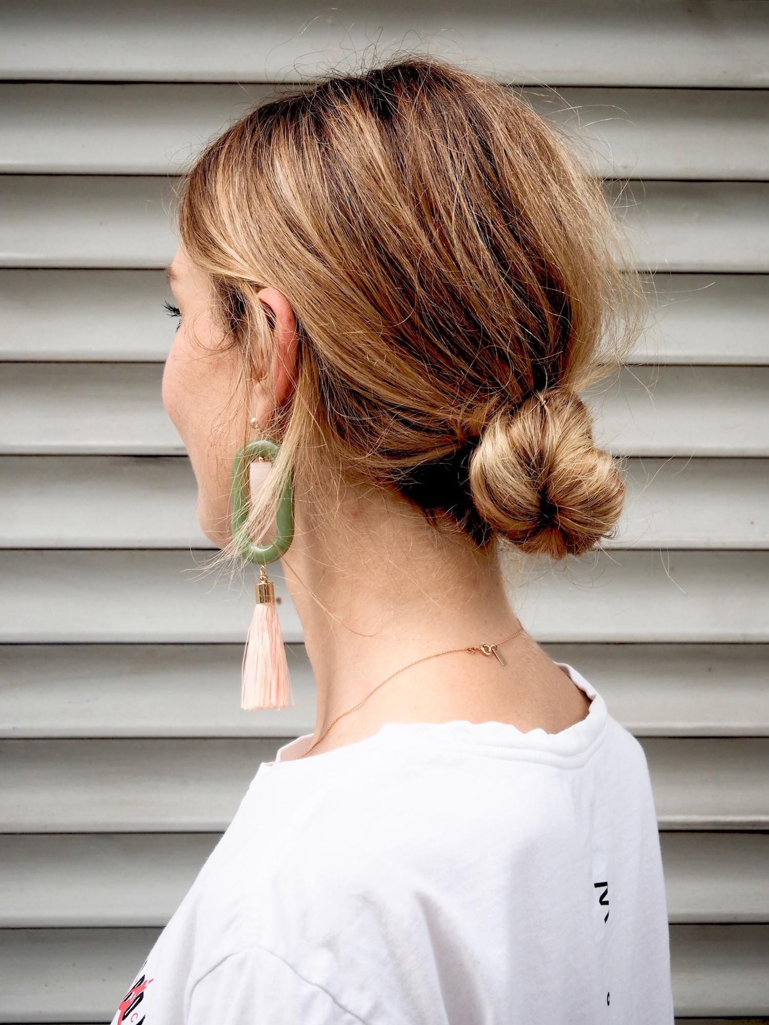 Easy peasy Knödel! #hairdo #hair #casual #frisur #bun #hairstyle