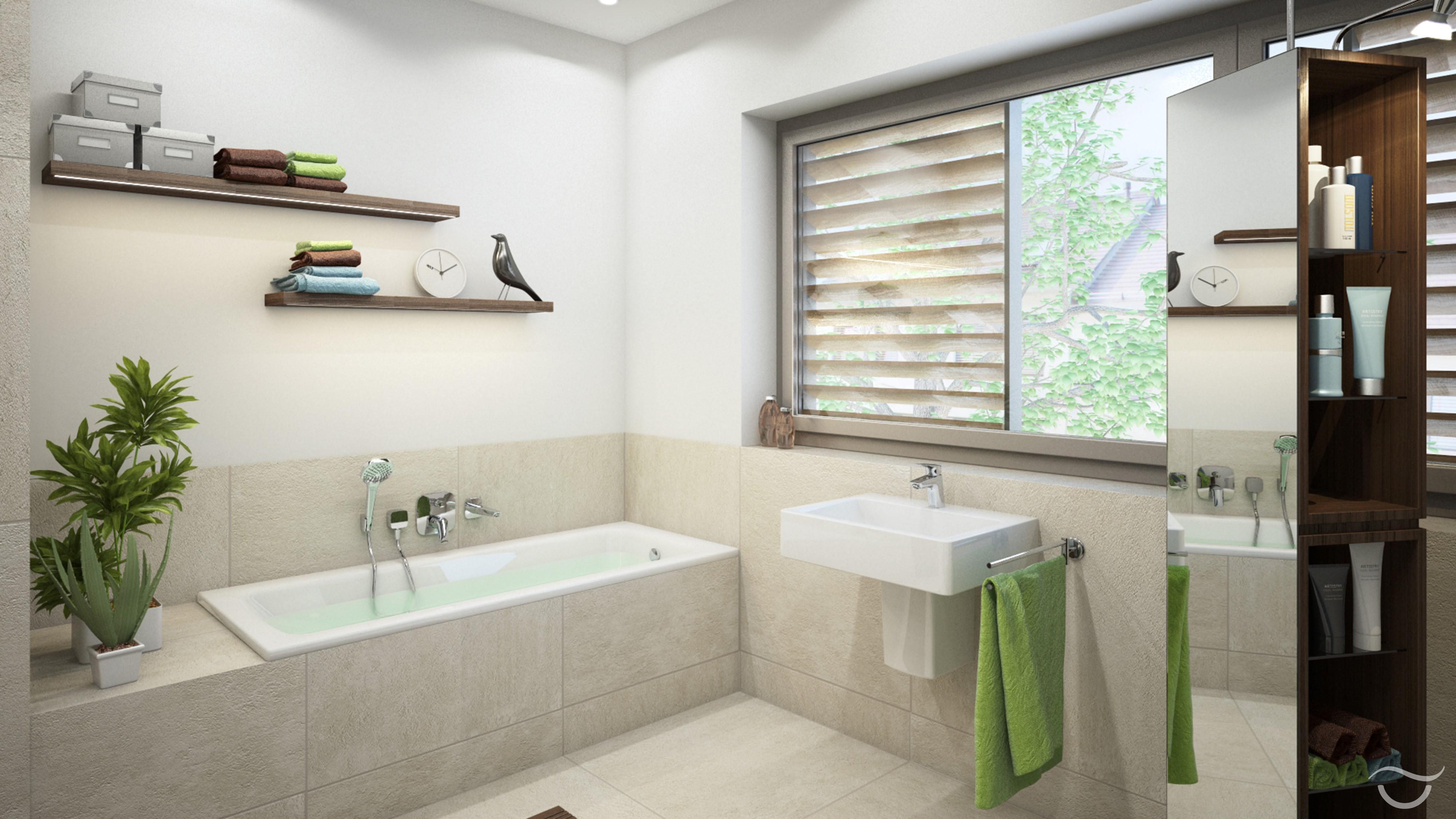 Fesselnd Ein Badezimmer Für Naturfreunde #naturstein #einbauschrank ©Banovo GmbH