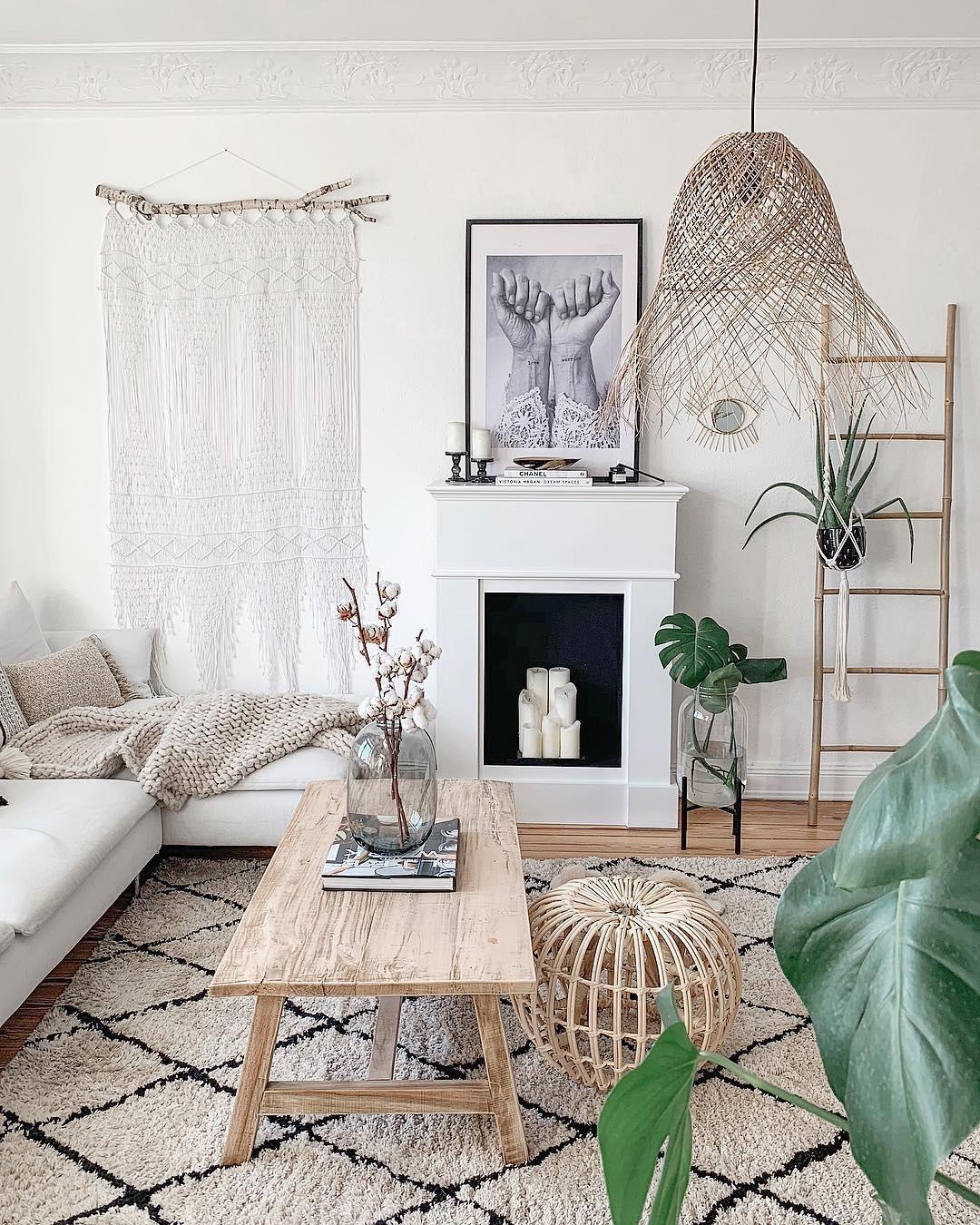 ein einblick in unser wohnzimmer boho nordichome couchstyle couchtisch