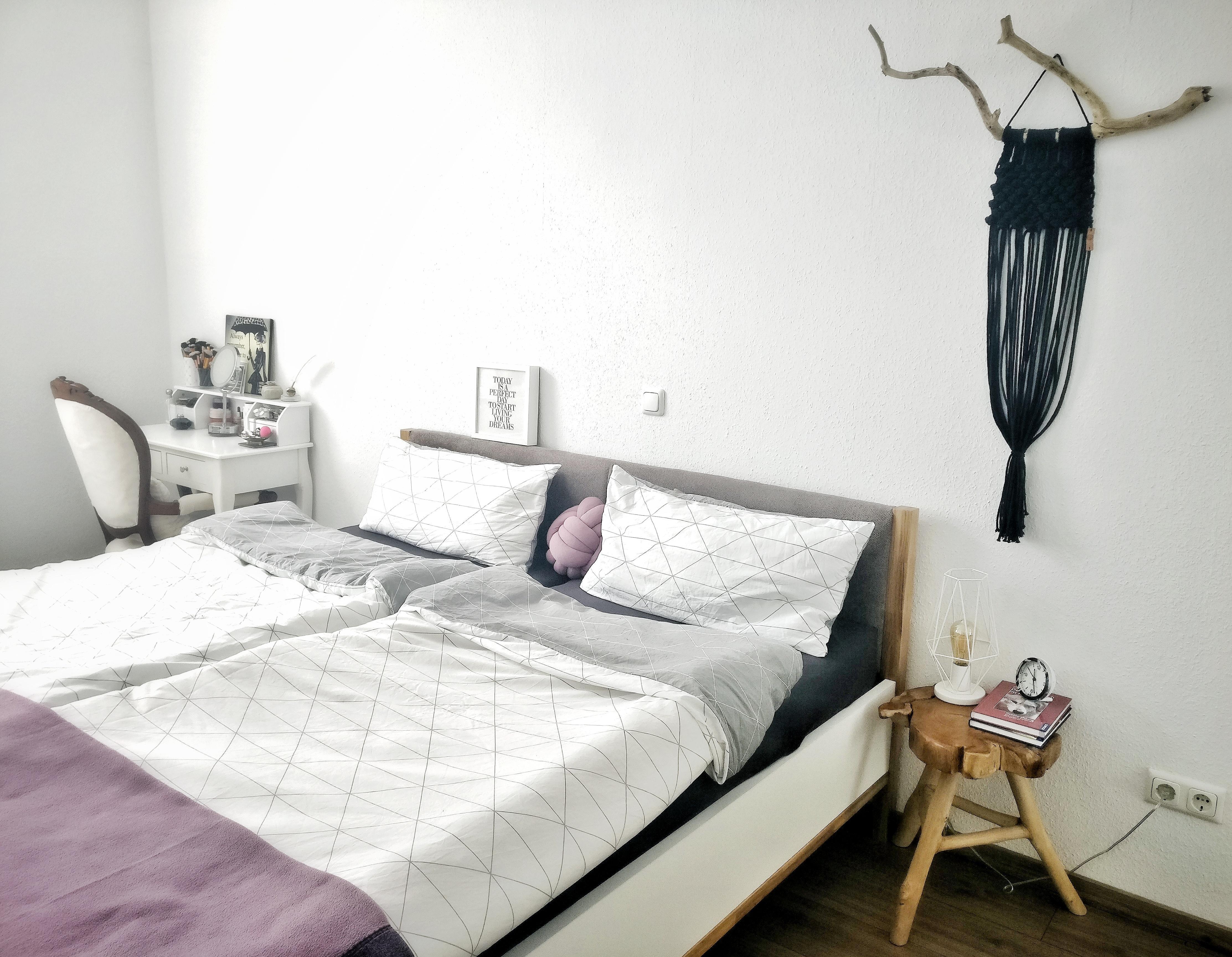 Ein Kleiner Einblick Ins Schlafzimmer #schlafzimmer #scandiboho #makramee