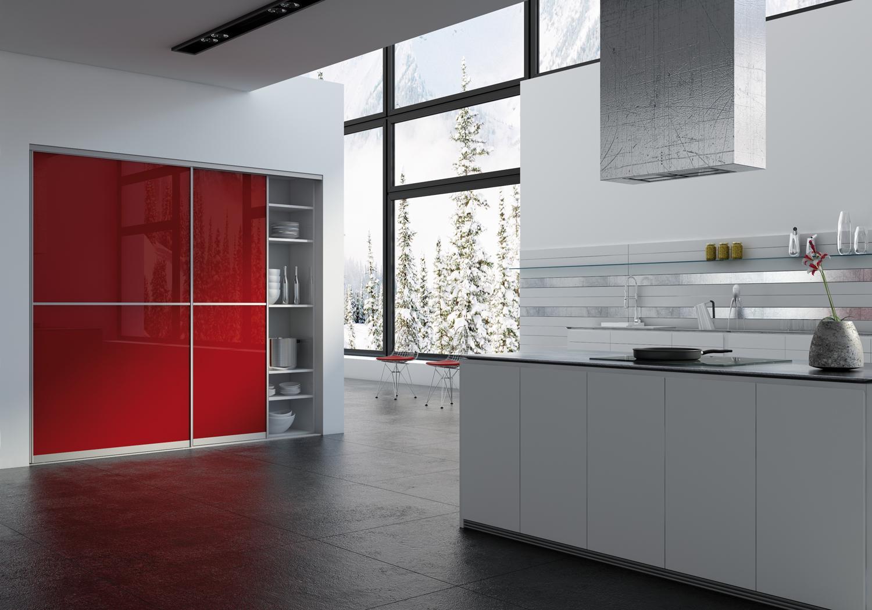 Innenarchitektur Schrank Als Raumteiler Galerie Von Chrank Küche Mit Schiebetüren #küche #raumteiler #chrank