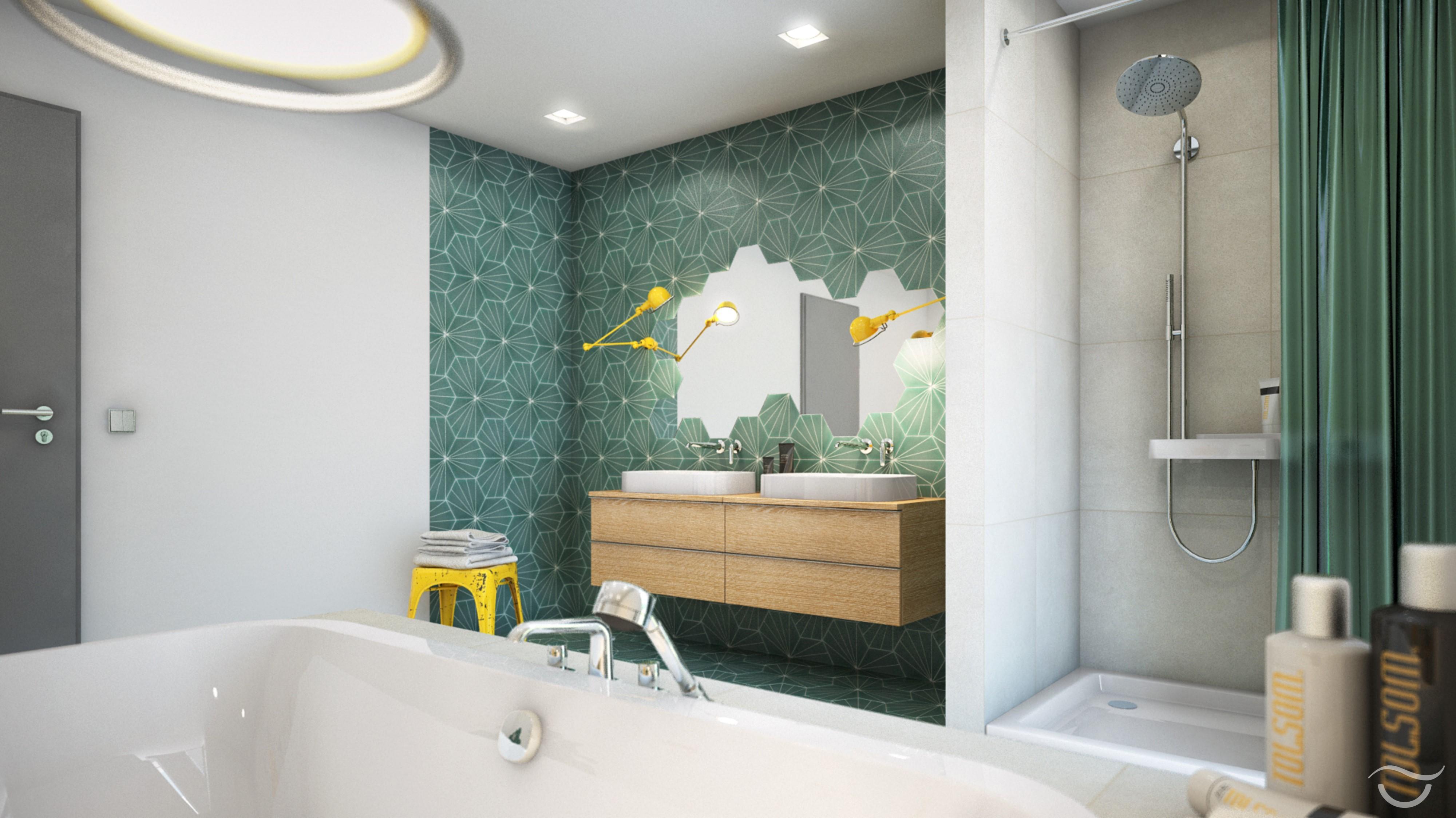 Eine grüne Oase im Badezimmer #retro #waschbecken #e...