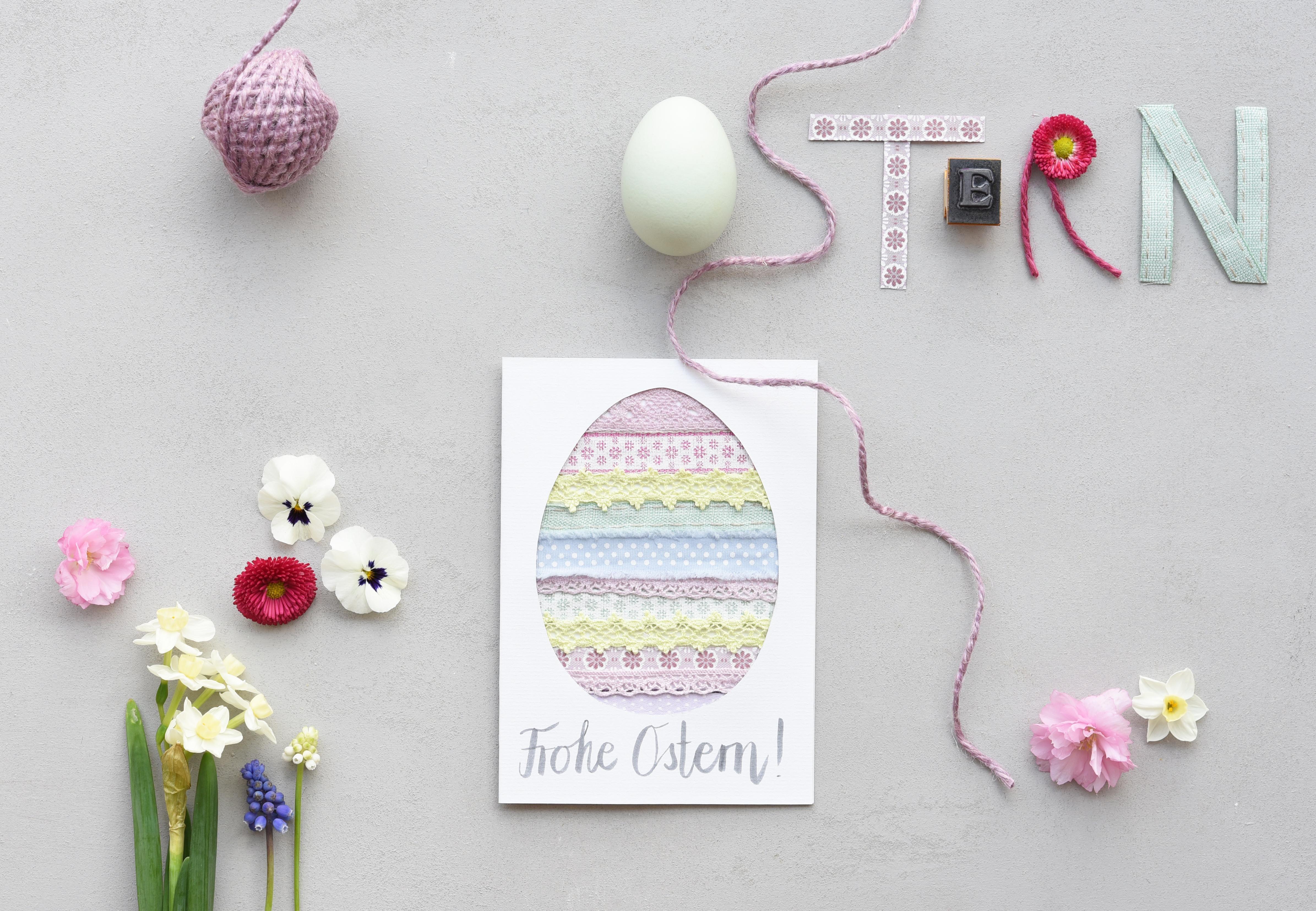 Eine Karte Basteln Und Grüße Zu Ostern Verschicken