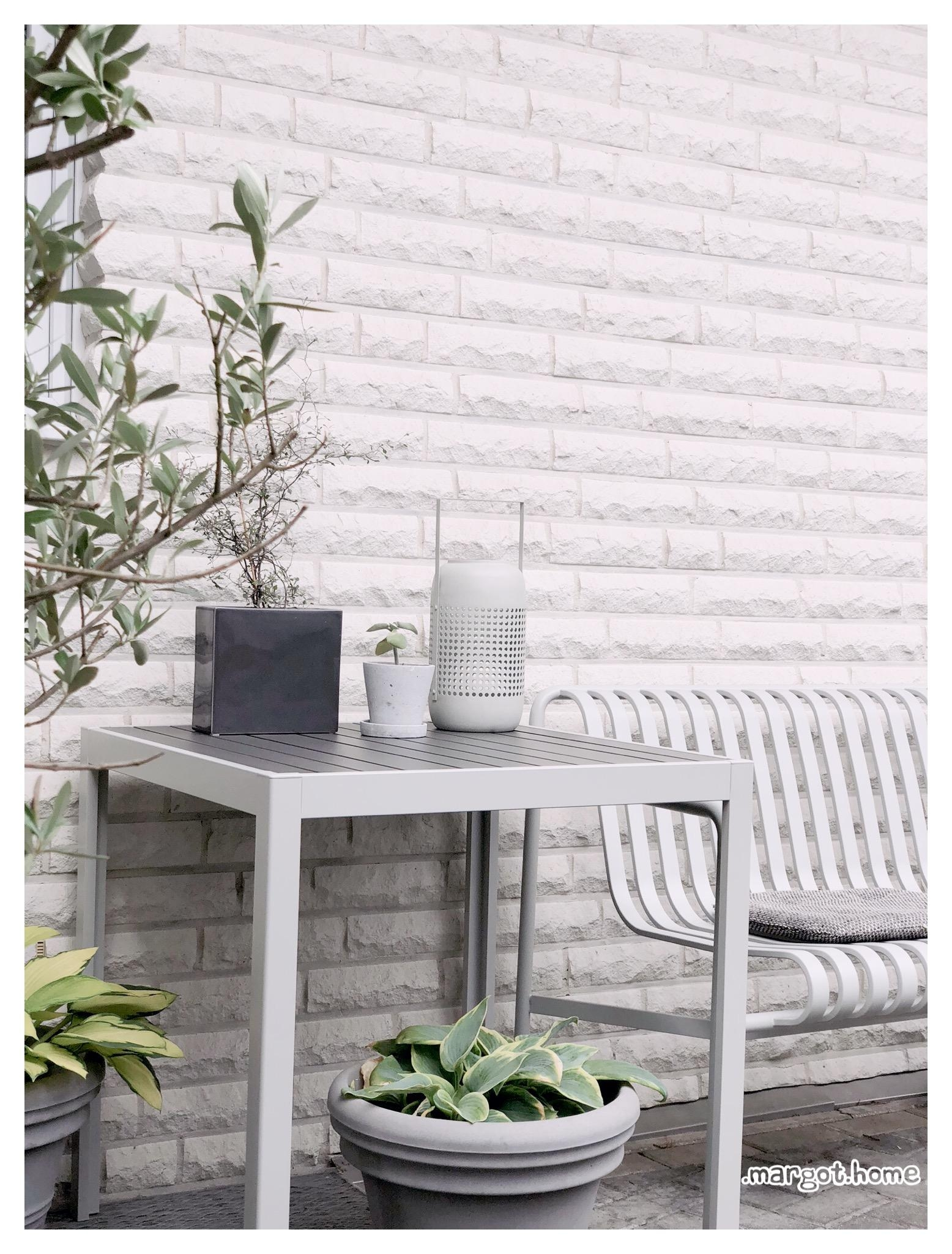 Eine Outdoor Ecke in Schatten?