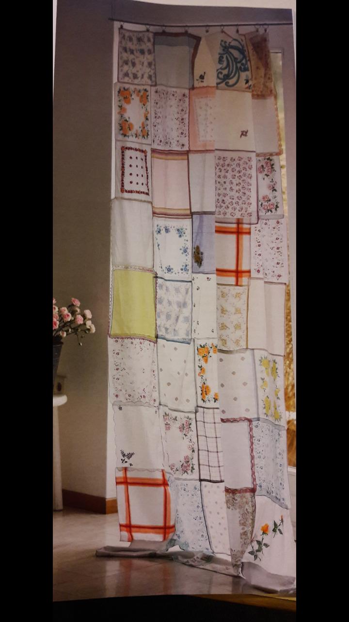Einfach Alte #stofftaschentücher Zum #vorhang Vernäht