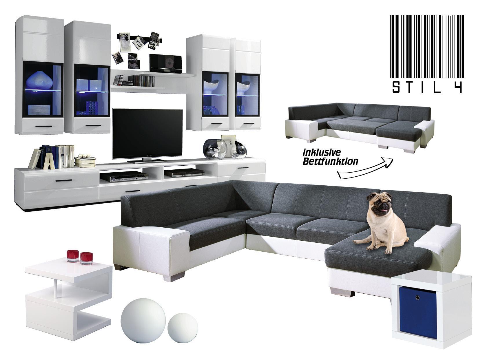 Einfach Mopstastisch ; ) #weißeswohnzimmer #futuristisch  #moderneswohnzimmer ©Möbel Biller