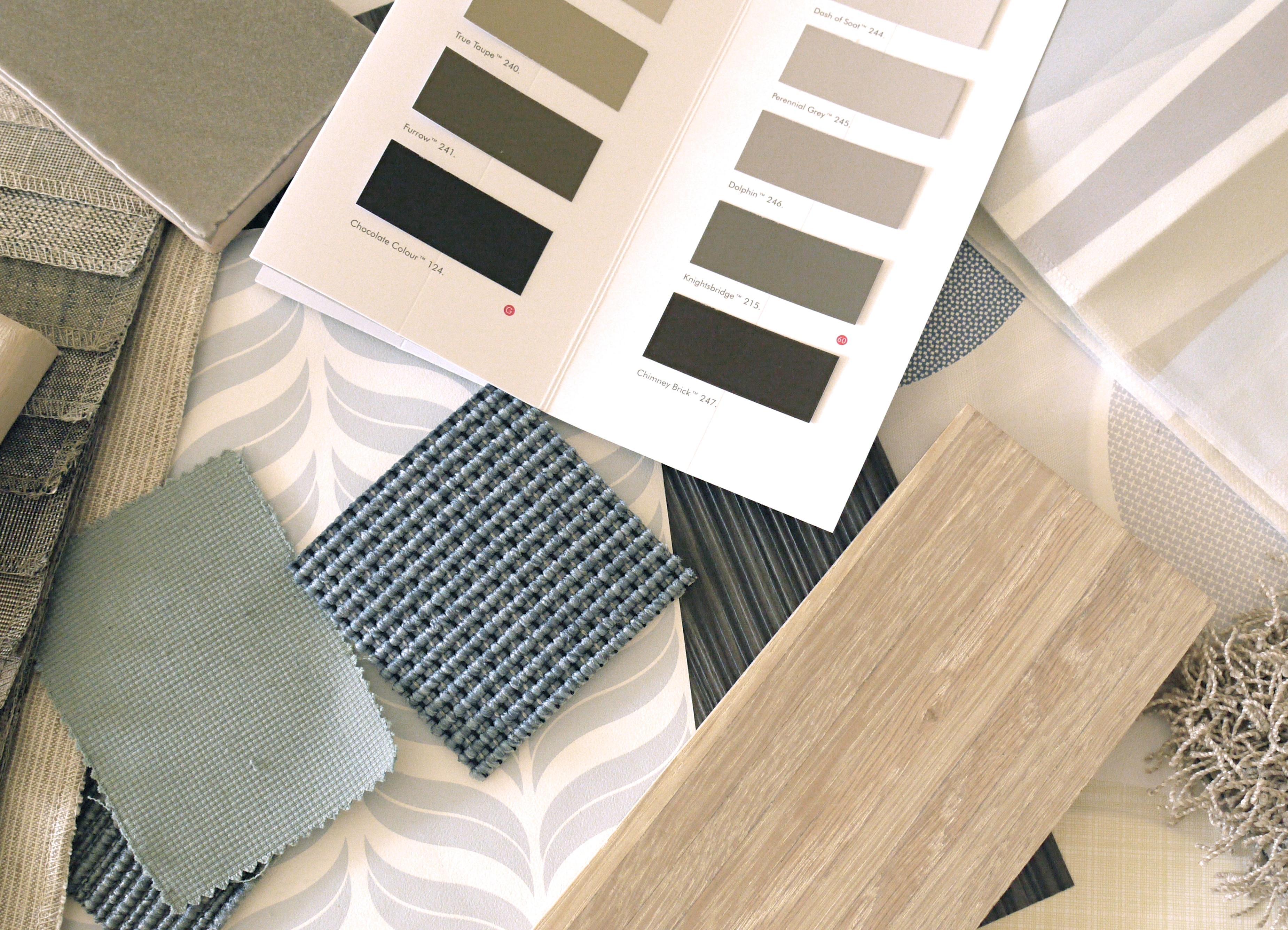 Einrichtungsbeispiele Für Eine Wohnung #teppich #moodboard #eichenboden  ©Anke Lietzke