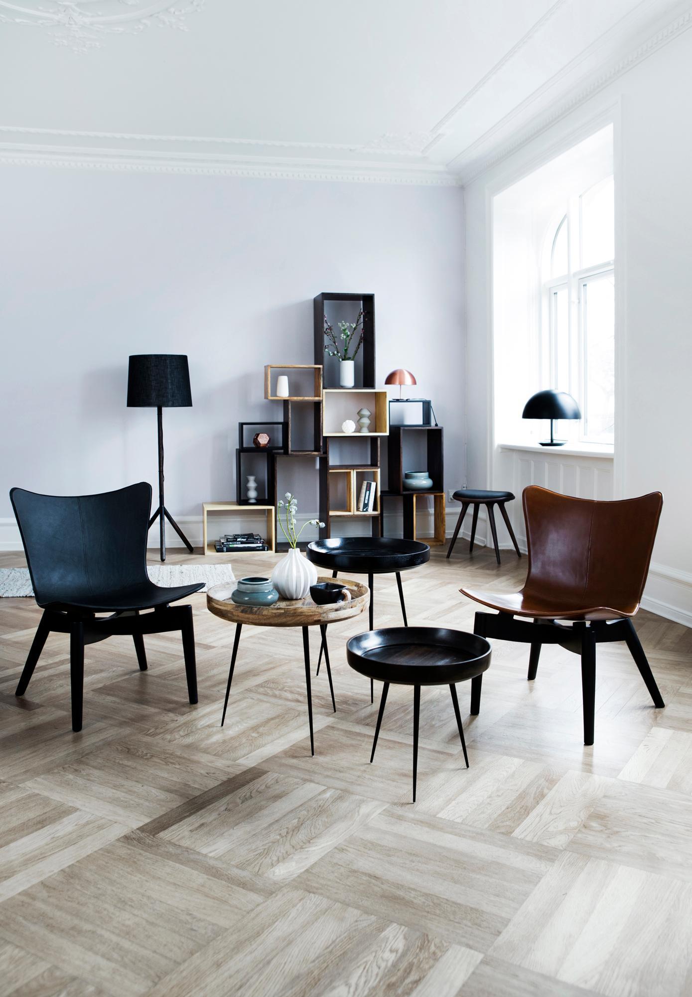 Elegante Wohnzimmermöbel Im Retro Look #60erjahre #eklektisch #wohnzimmer  #rundertisch ©Mater