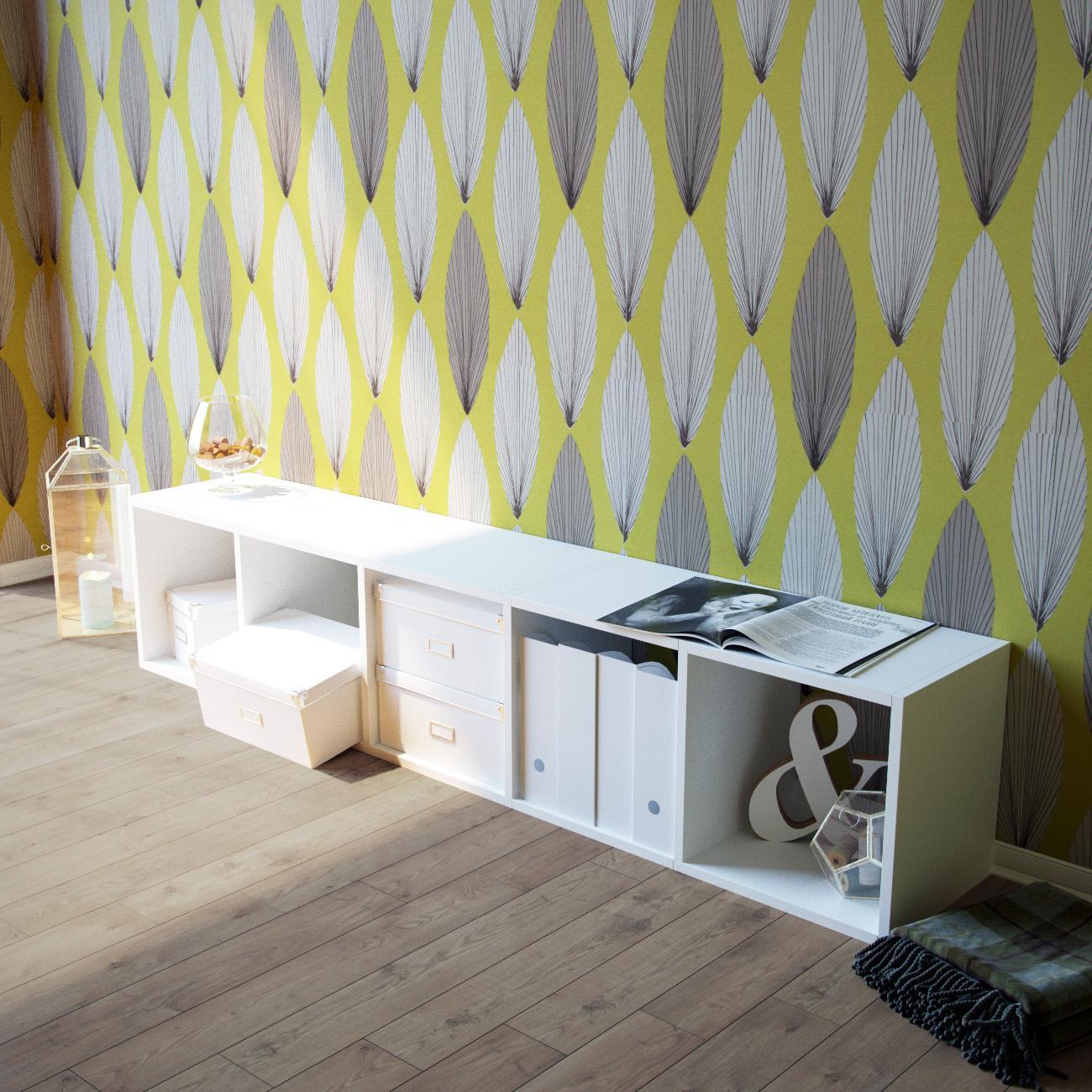 Elegantes Weisses Lowboard Regal Cmycs GmbH