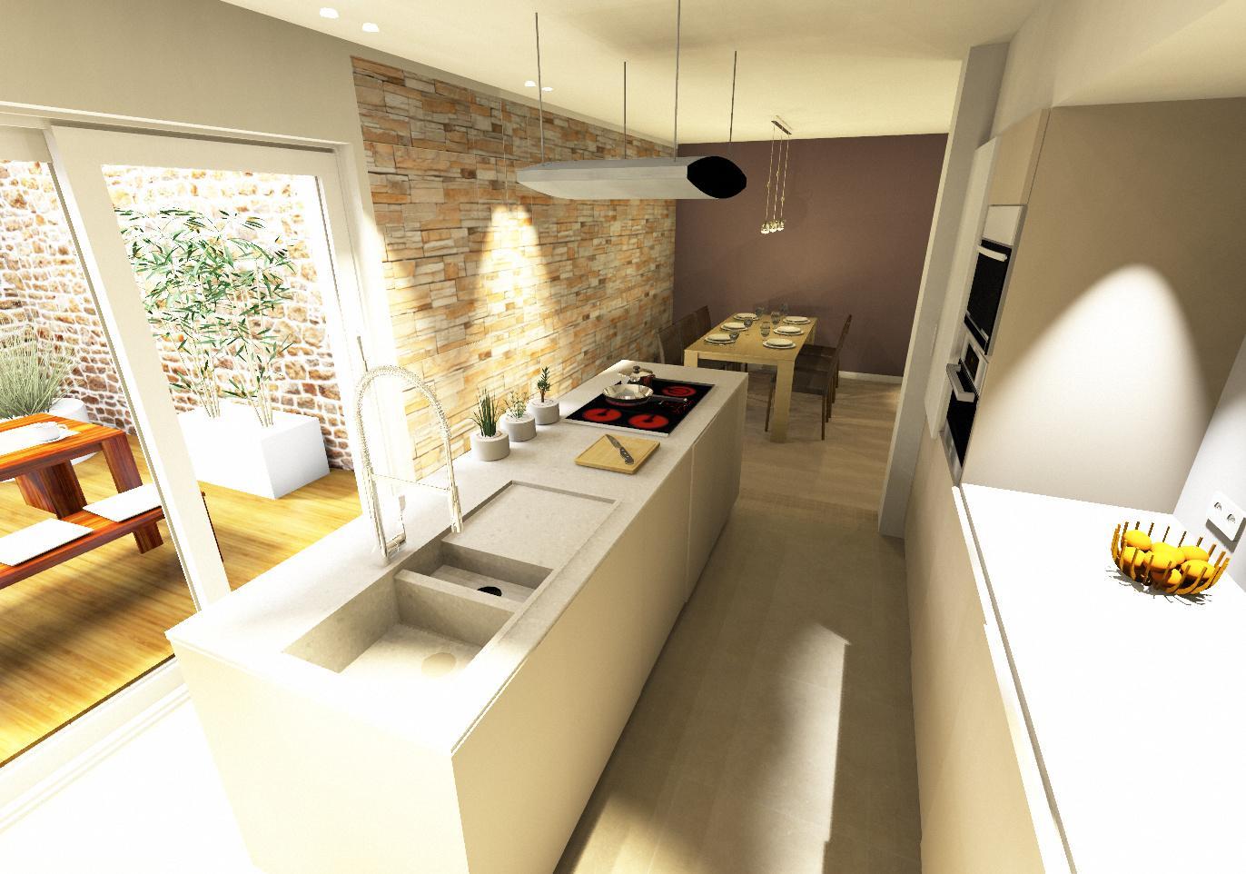 Entwurf Küche Essen 21 innenarchitektur ©Flohs Wohnr...